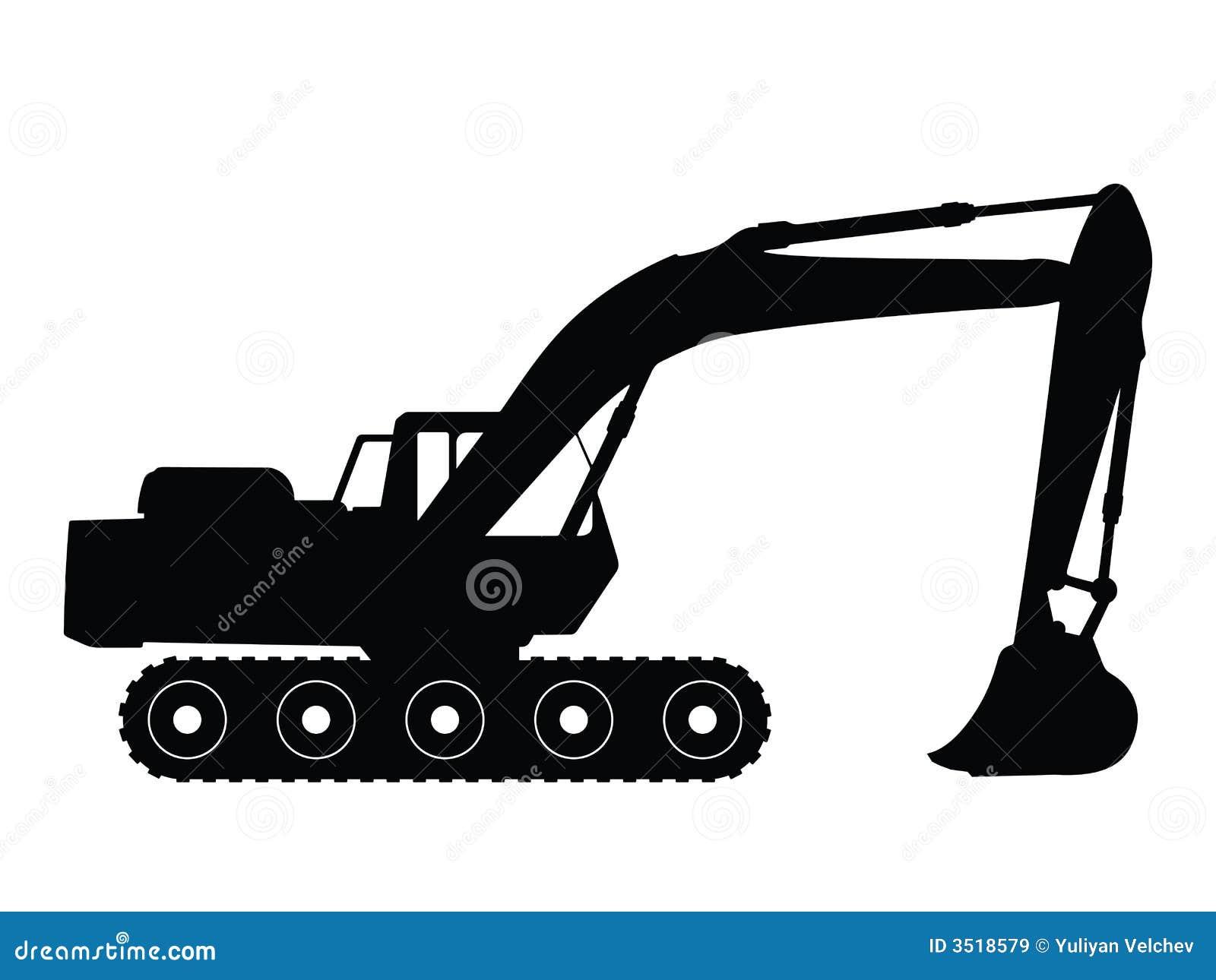 excavator stock vector illustration of illustration backhoe clipart black and white backhoe clip art png