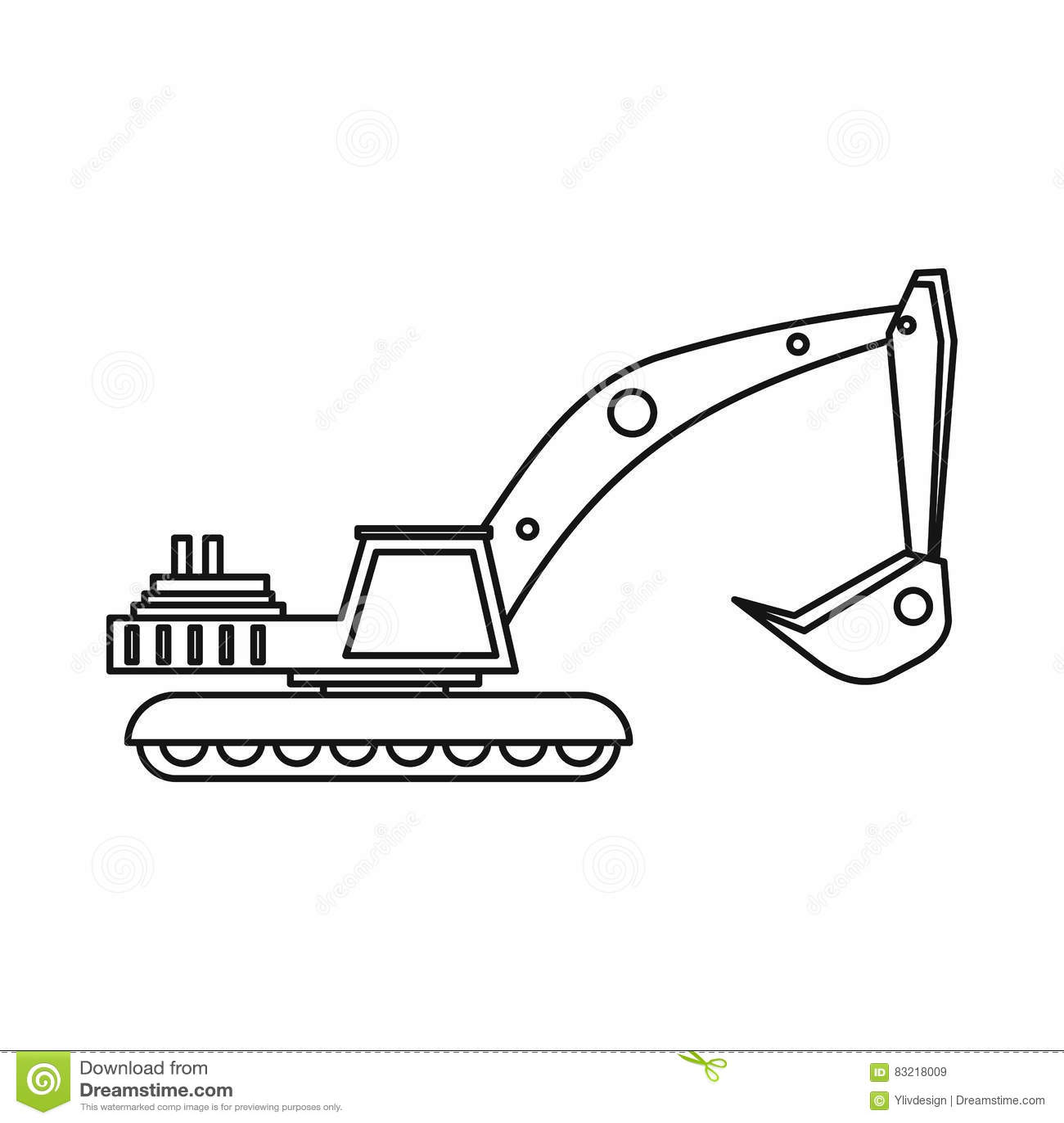 excavator icon in monochrome style isolated on white bulldozer clip art free bulldozer clip art black & white