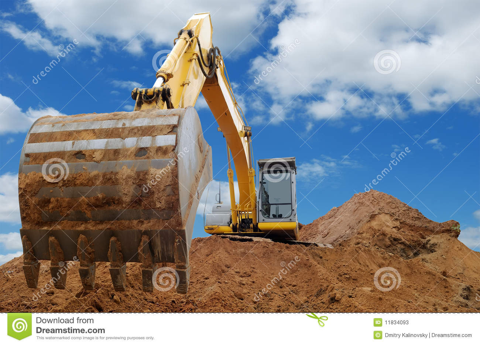 excavator loader bulldozer with big bucket stock photos image