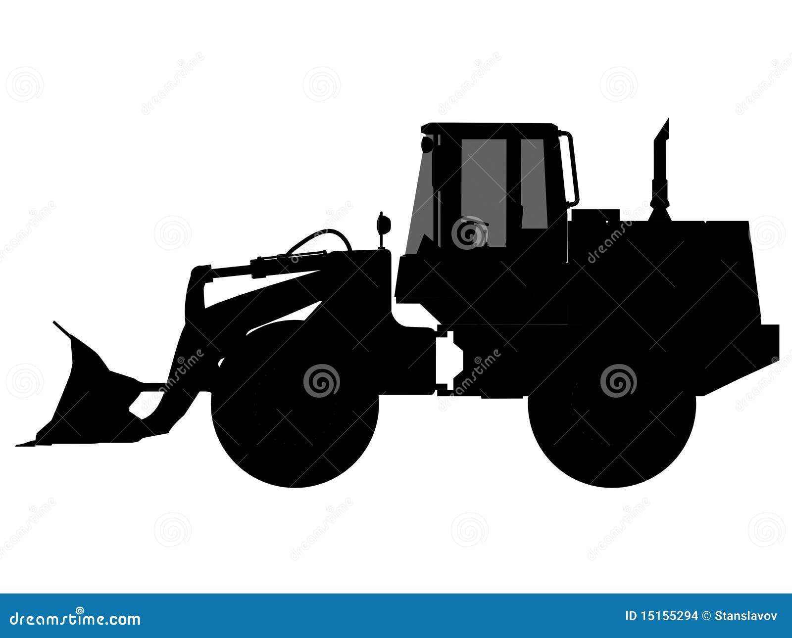 Excavator silhouette S...