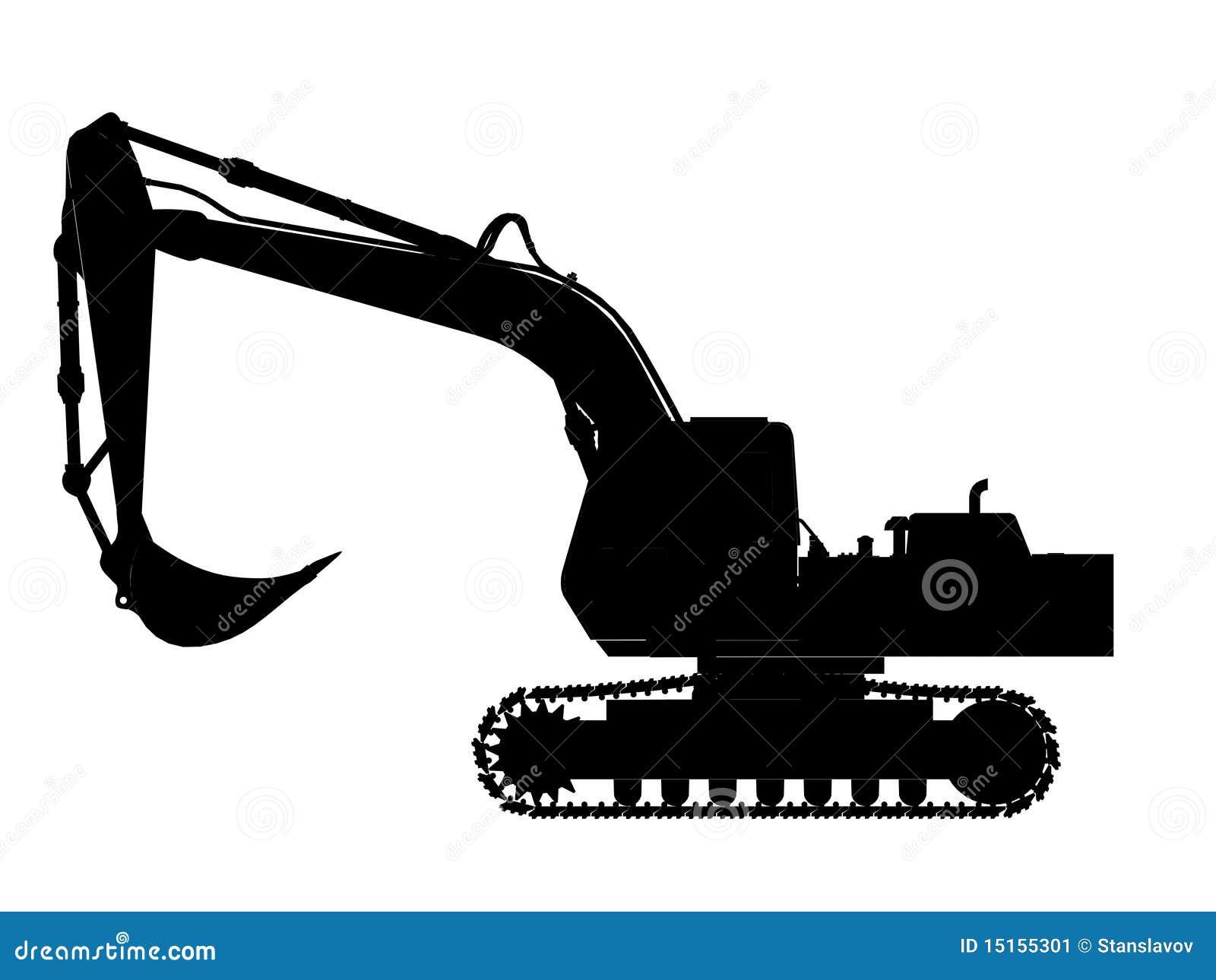 Excavator Silhouette Stock Image - Image: 15155301