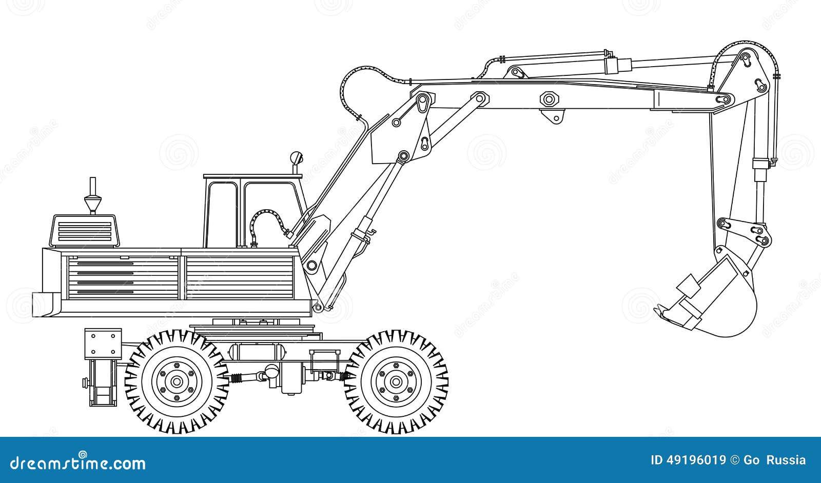 Excavator Stock Vector Illustration Of Design Grader