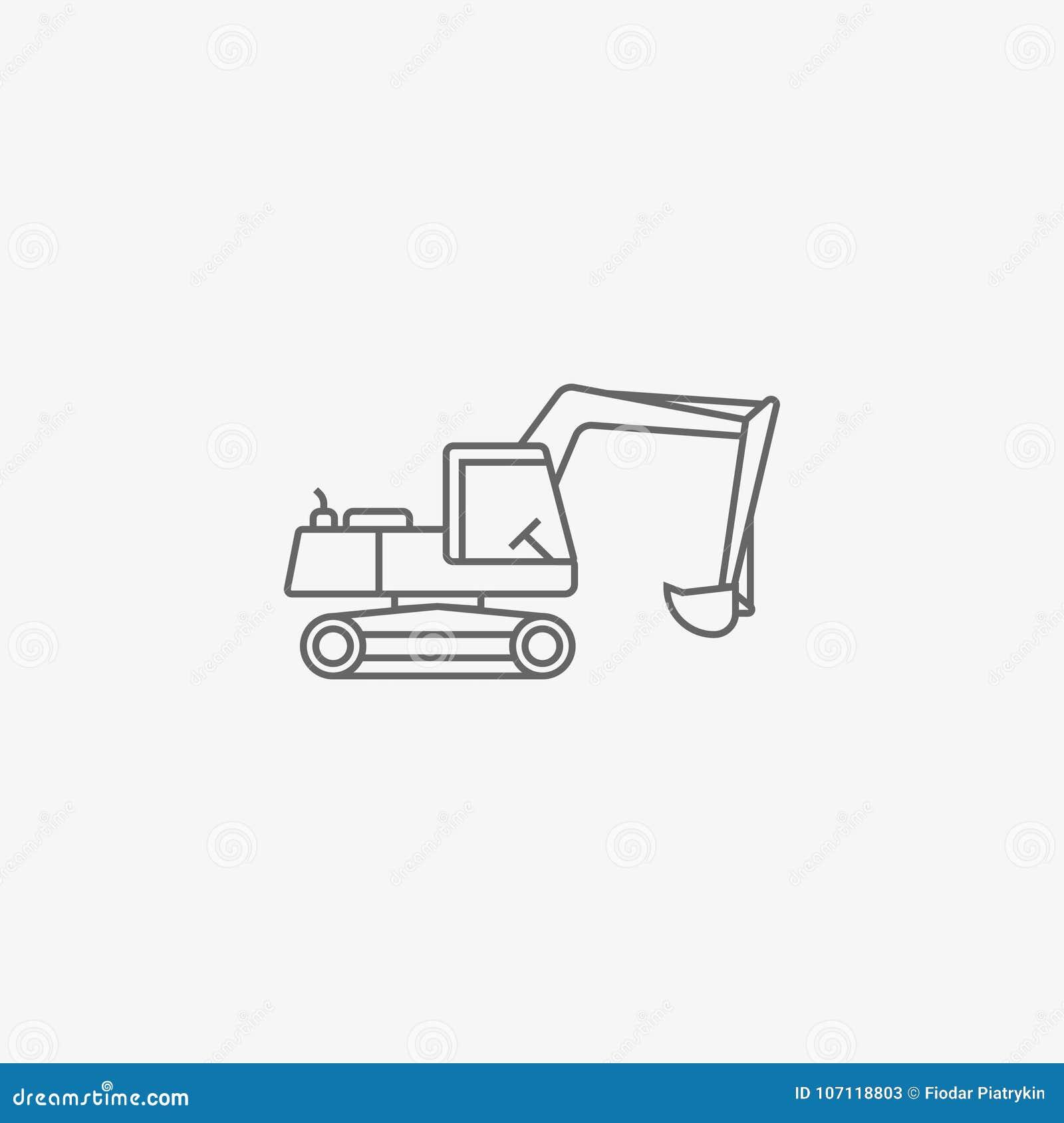 Excavator Vector Icon Stock Illustration Of Excavation