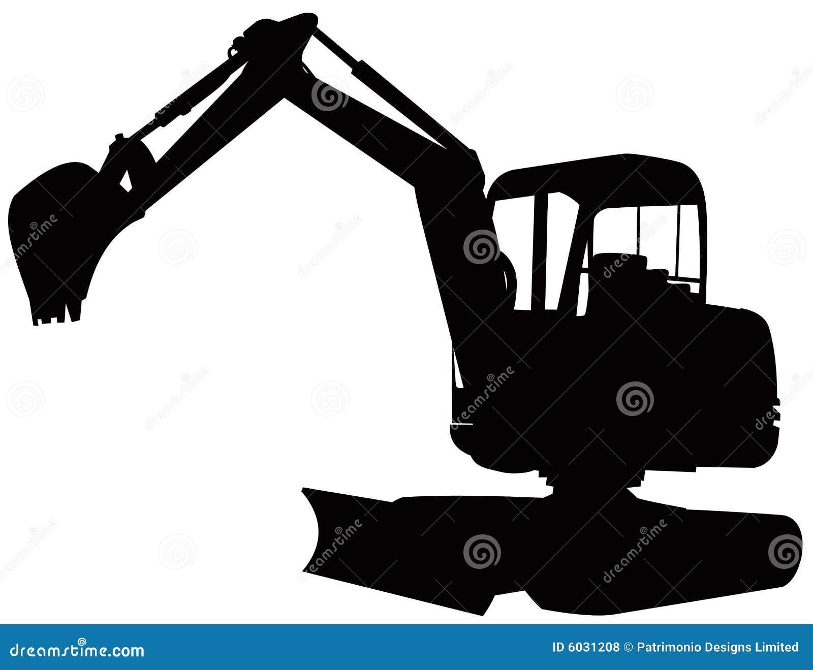 Excavatrice illustration de vecteur. Illustration du ...