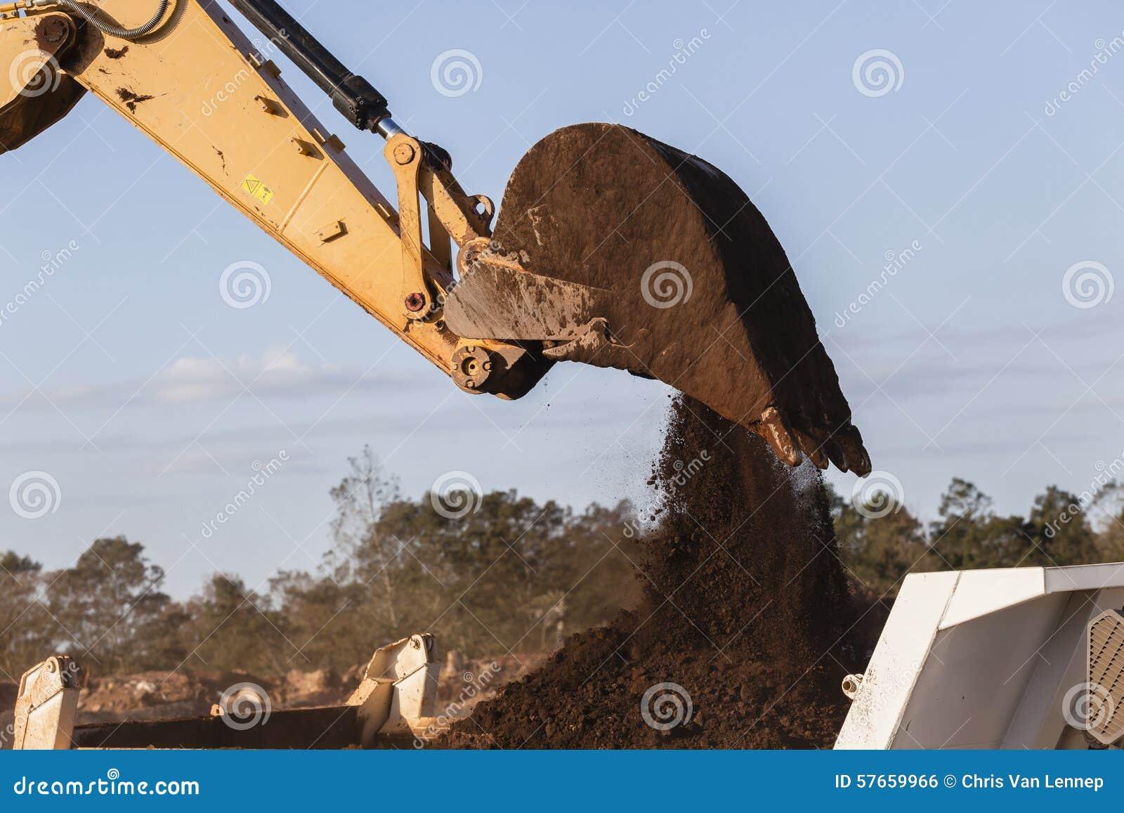 Excavatrice Bucket Earth de terrassements