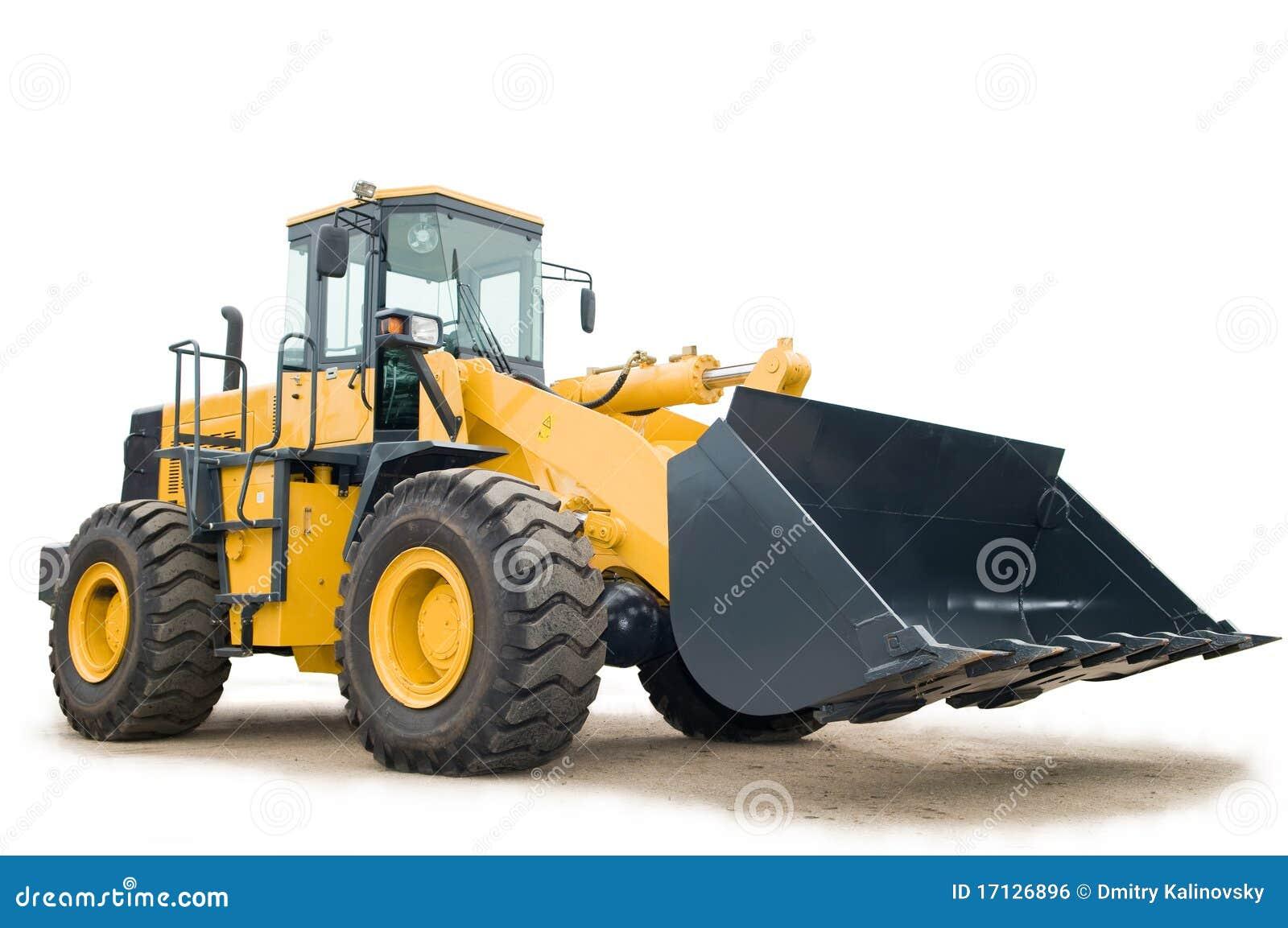 Excavatrice de chargeur de roue d isolement