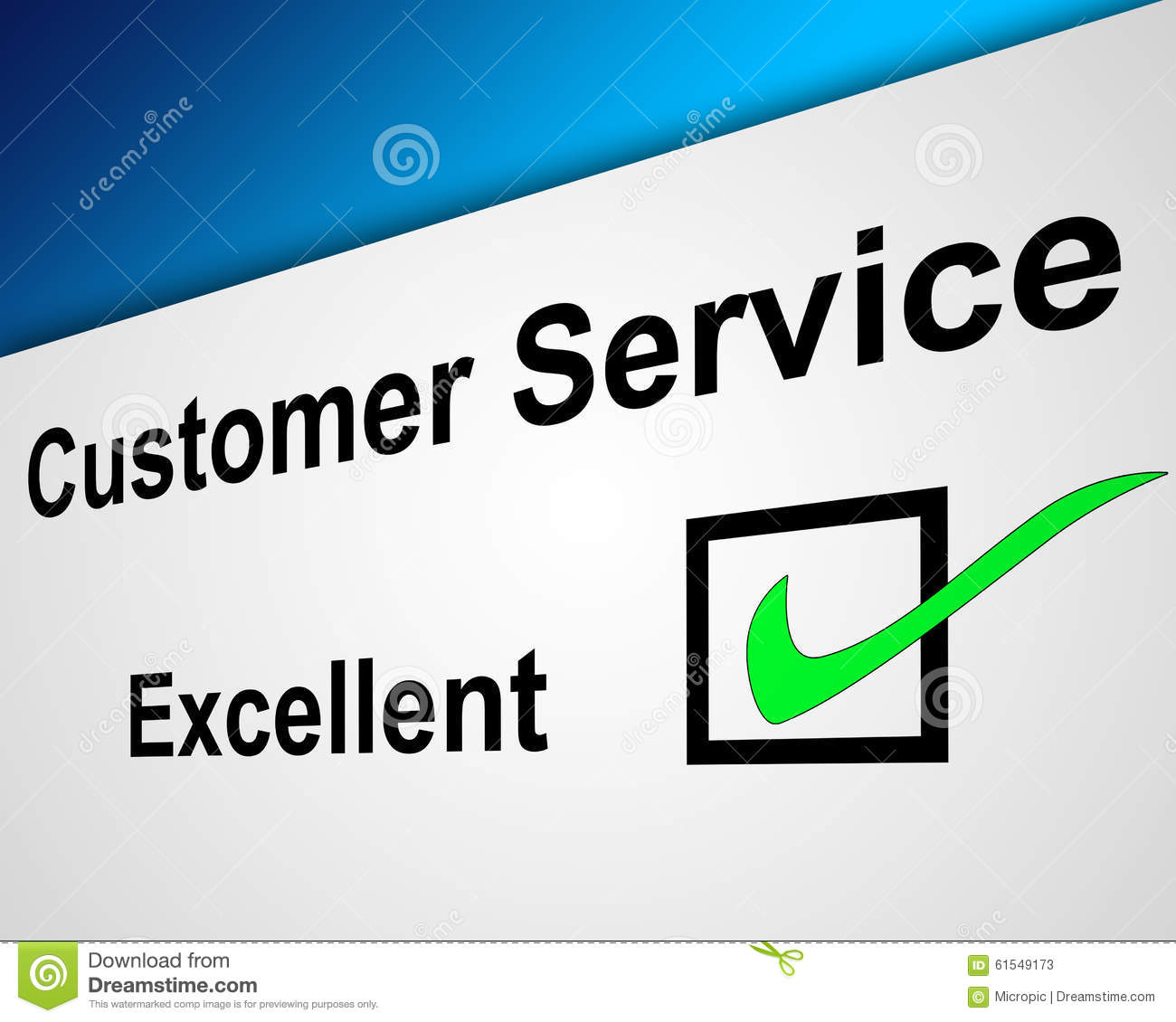 No Credit Check Credit Cards >> Excellent Customer Service Stock Illustration - Image: 61549173