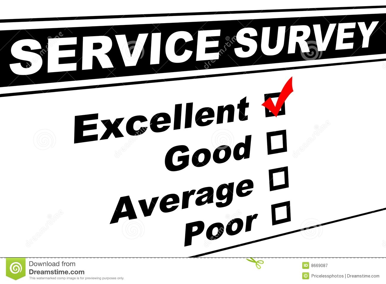 Excellent Customer Service Survey  Definition Of Excellent Customer Service