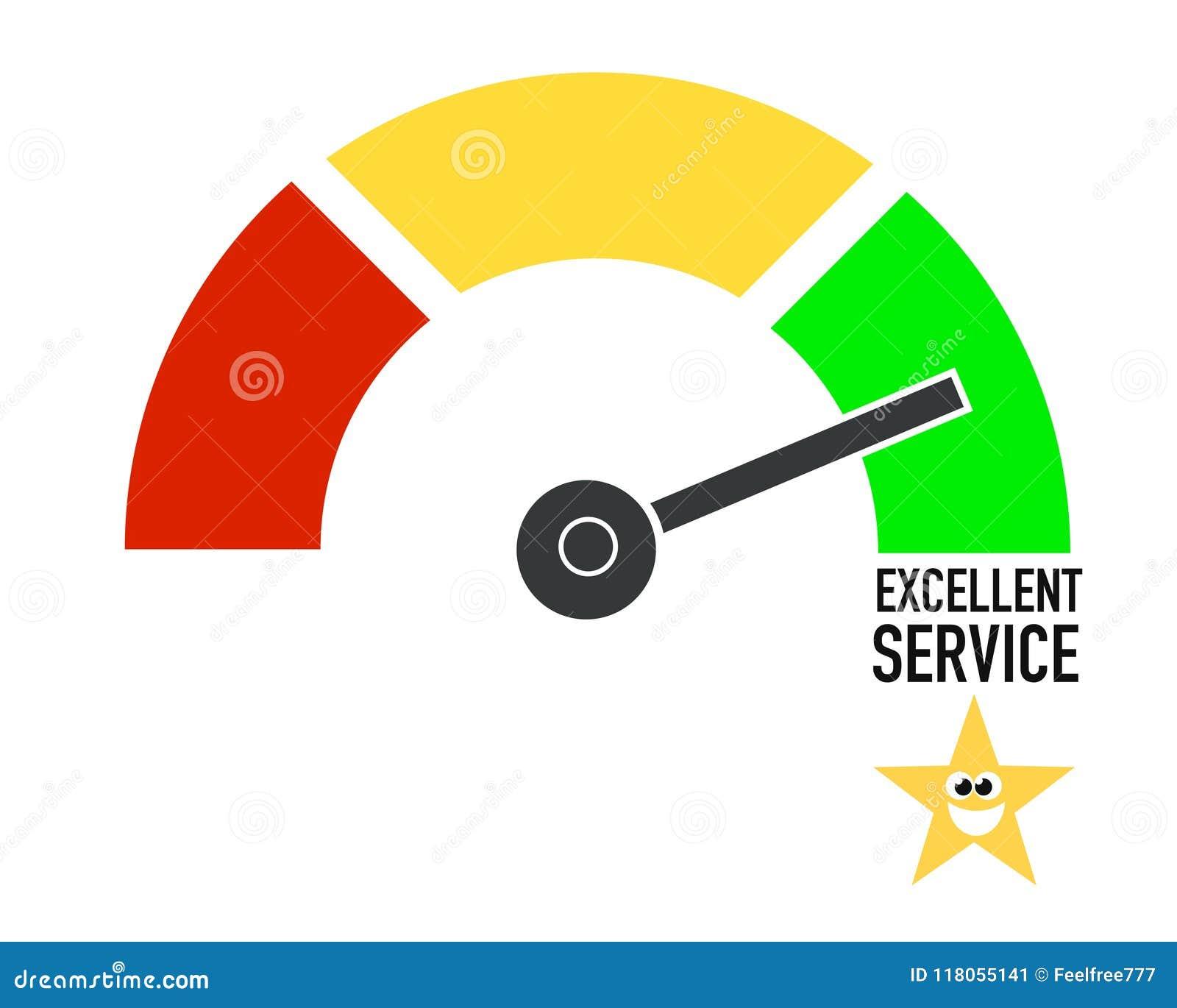 Excellent service client, affiche superbe d affaires d abrégé sur qualité