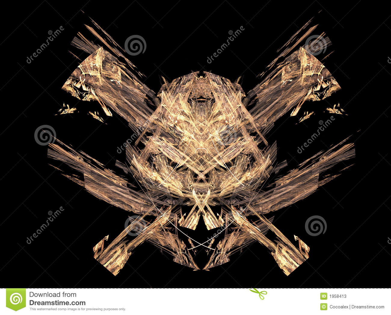 Excellent skull pirates symbol made from fractals stock excellent skull pirates symbol made from fractals buycottarizona Images