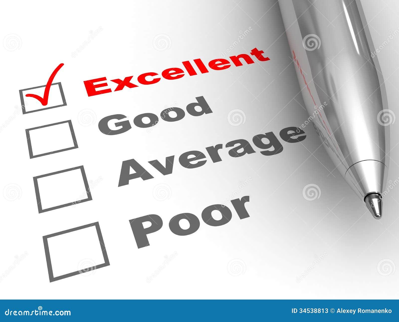 Excellente évaluation