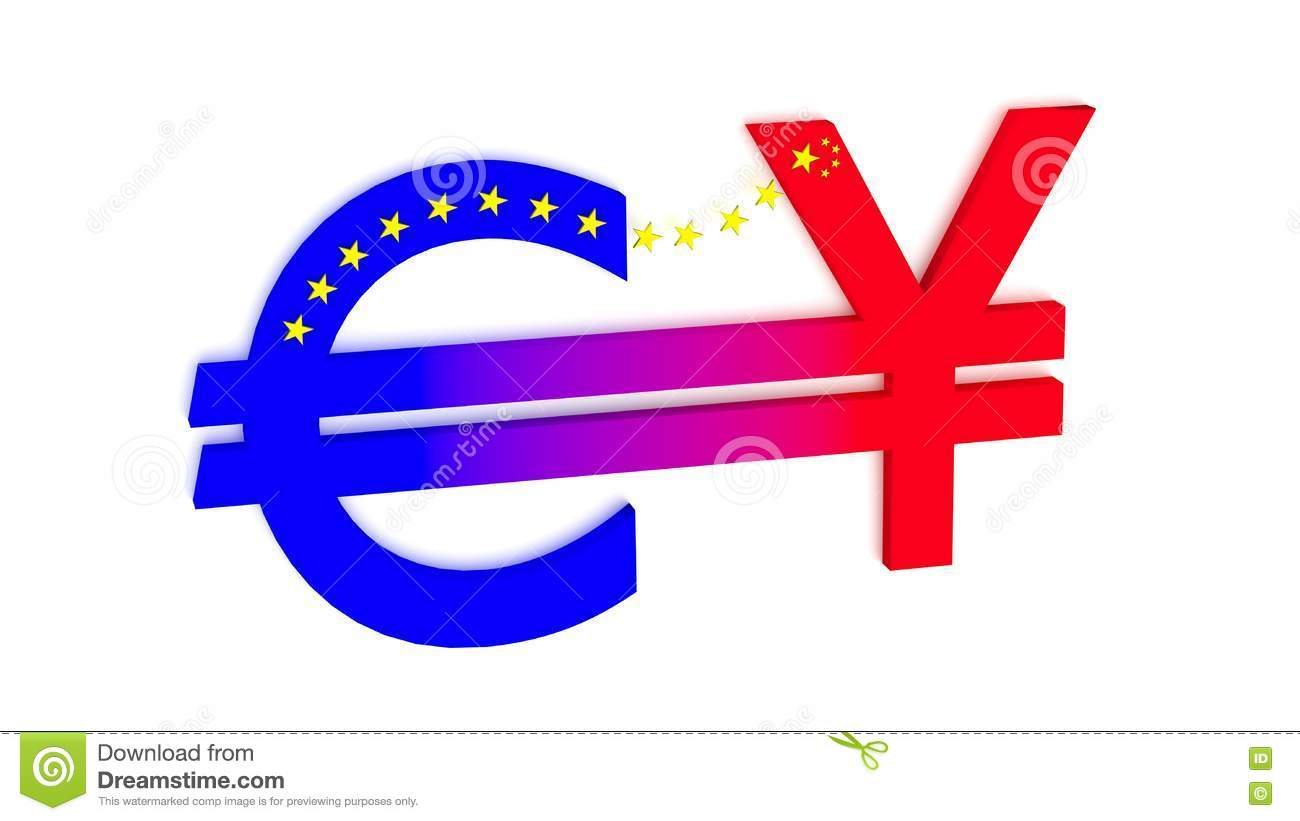 Exchange betwenn euro and chinese rmb stock illustration exchange betwenn euro and chinese rmb biocorpaavc Gallery