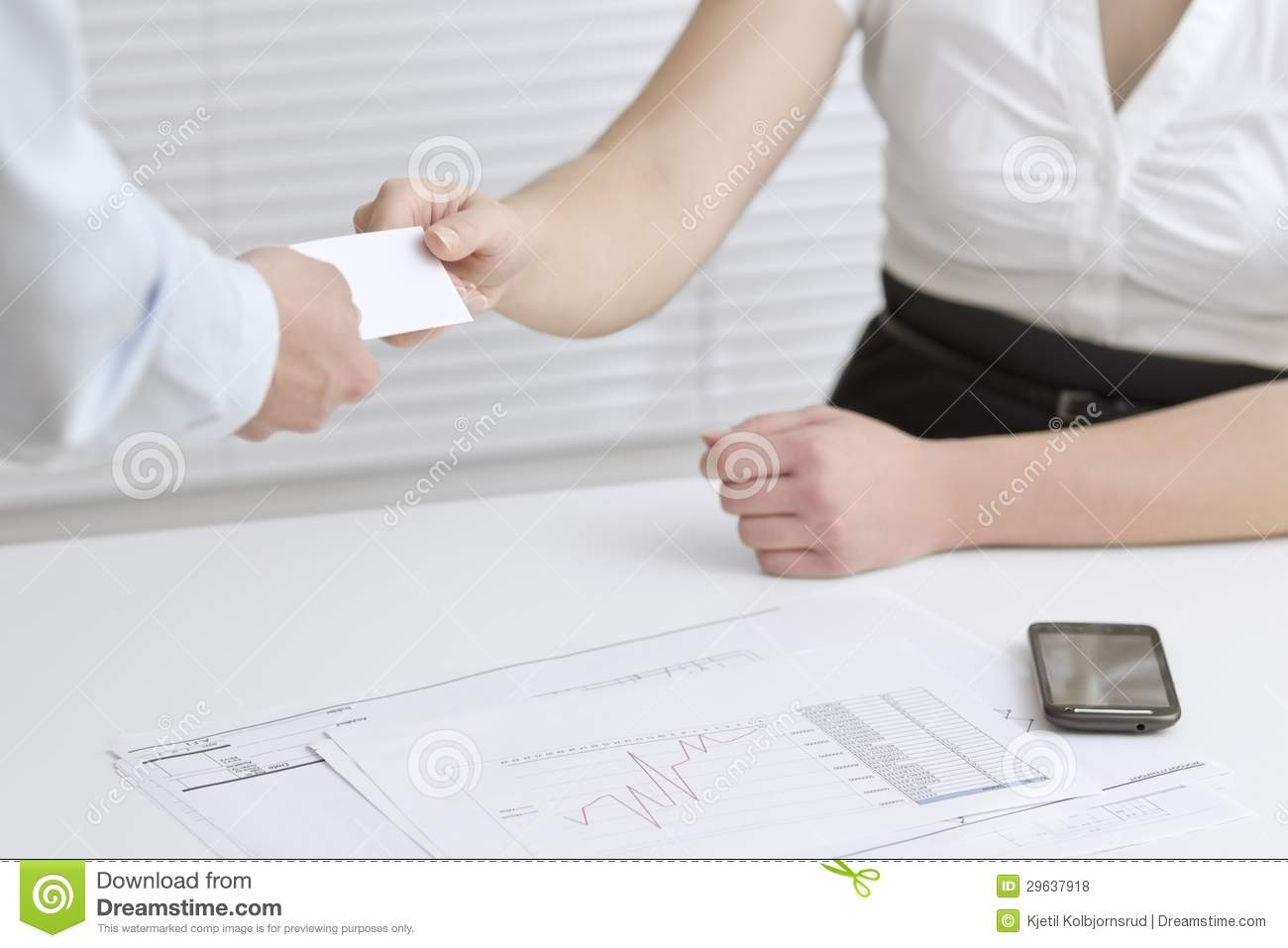 Exchange Business Cards stock photo. Image of people - 29637918