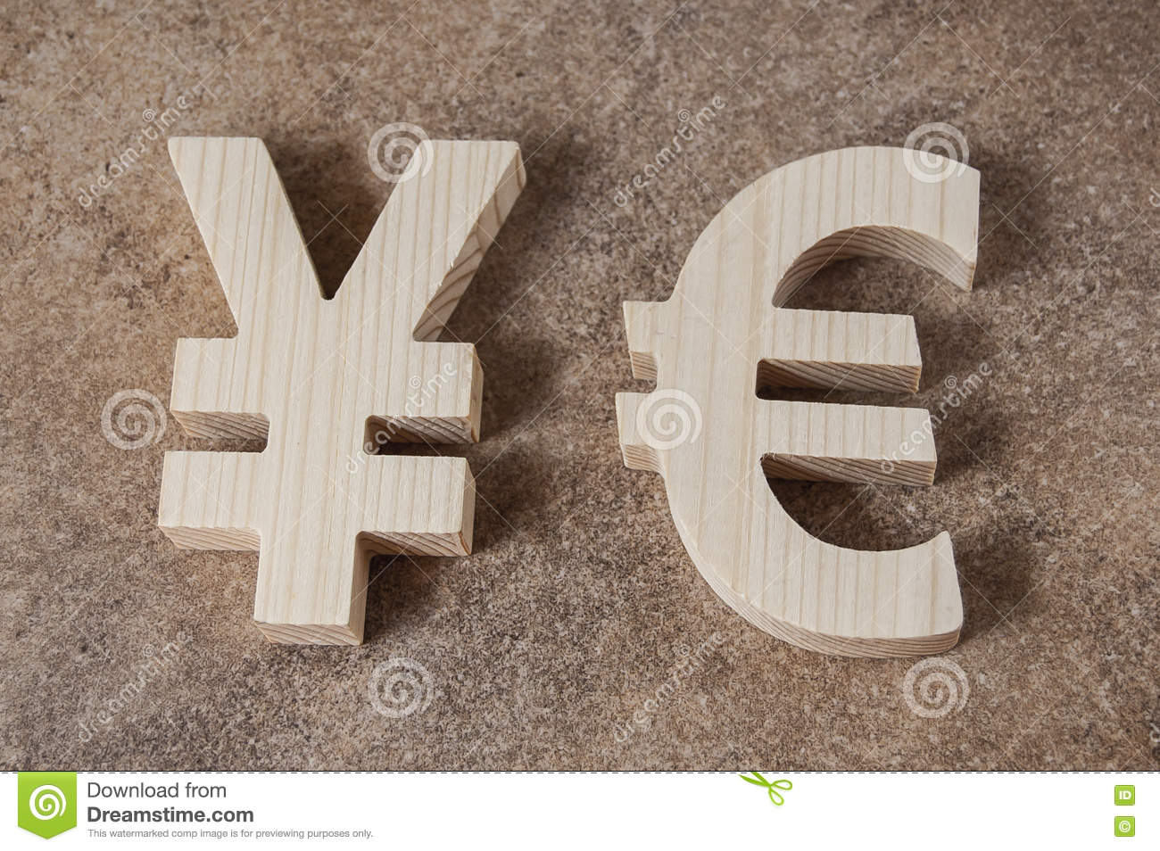Exchange currency yuan with euro unit on a stone background stock royalty free stock photo biocorpaavc Image collections