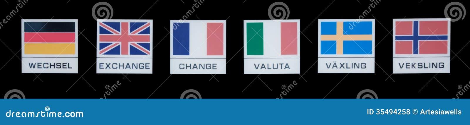 Exchange Symbols Stock Photo Image Of Norwegian Global 35494258