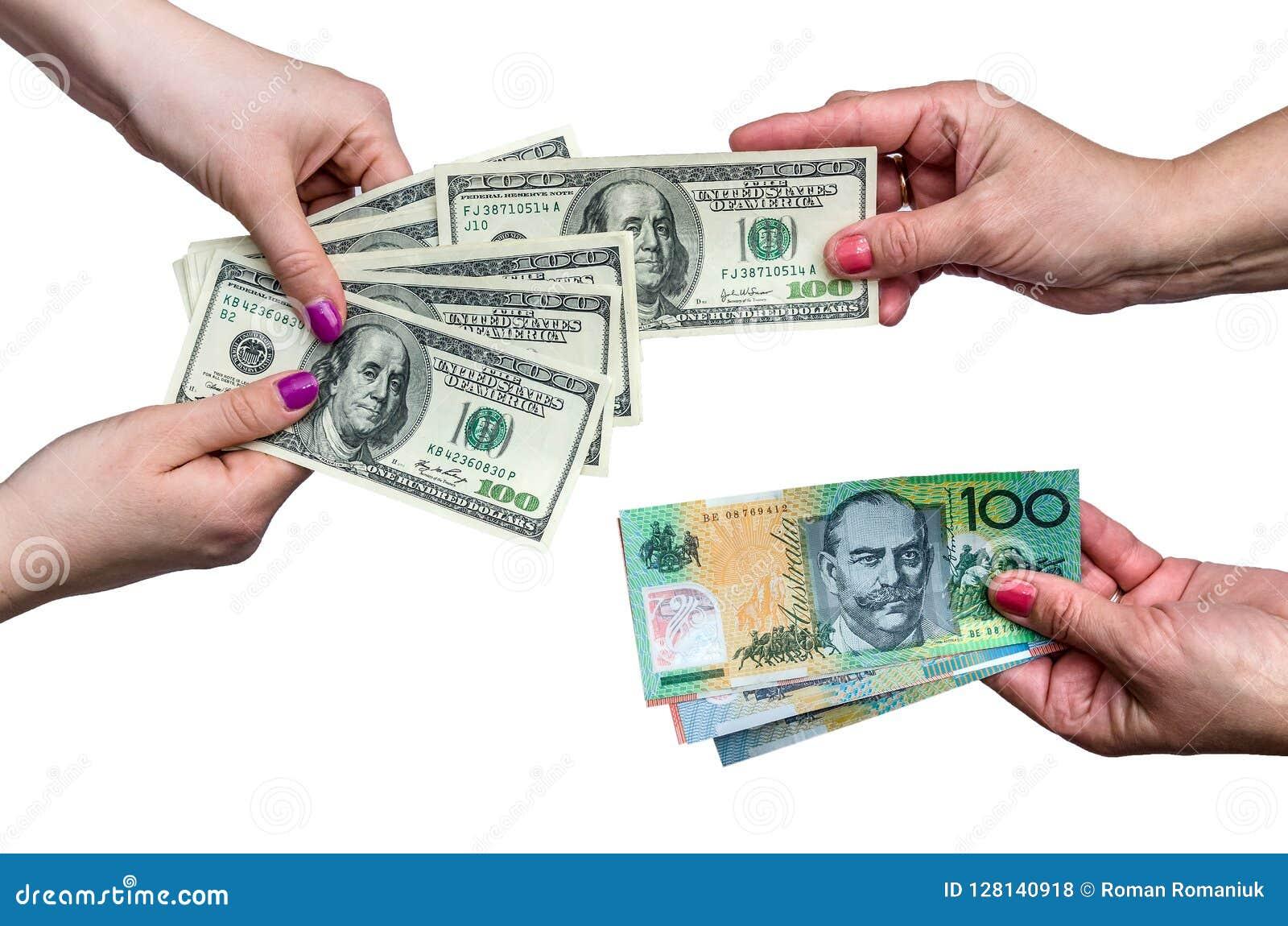 Exchanging money between american dollar and Australian dollar isolate