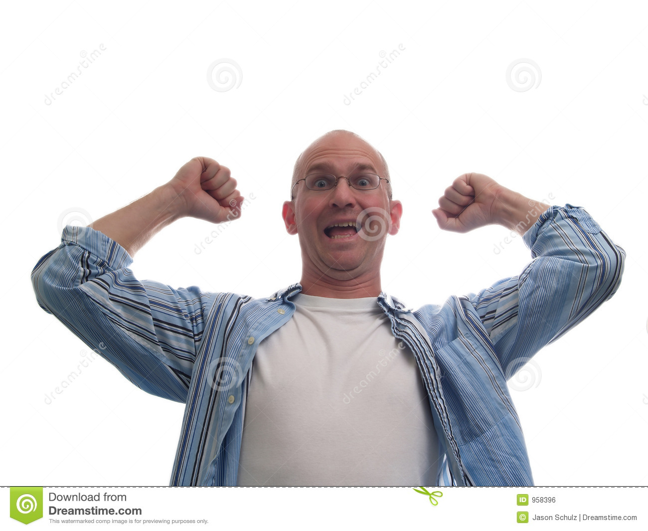 Really Excited Bald Man Royalty Free Stock Image - Image ...