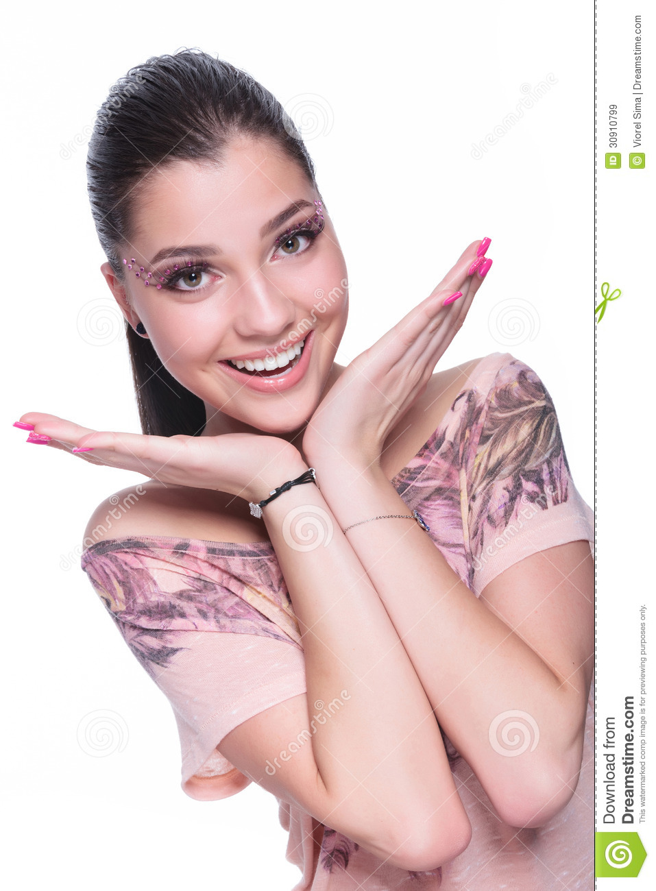 Excited Casual Woman Royalty Free Stock Images