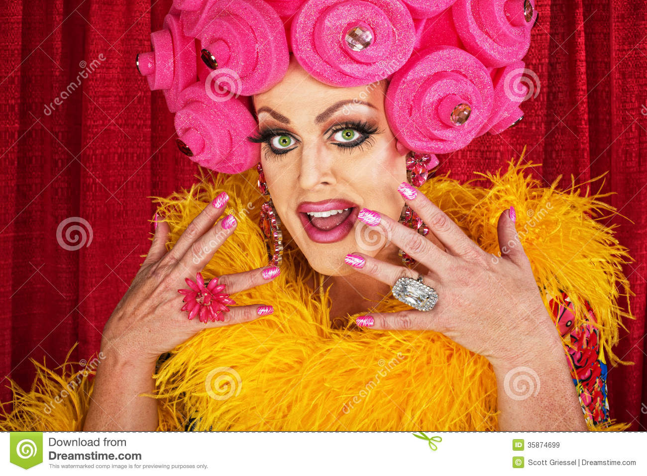 Excited Drag Queen Royalty Free Stock Images Image 35874699