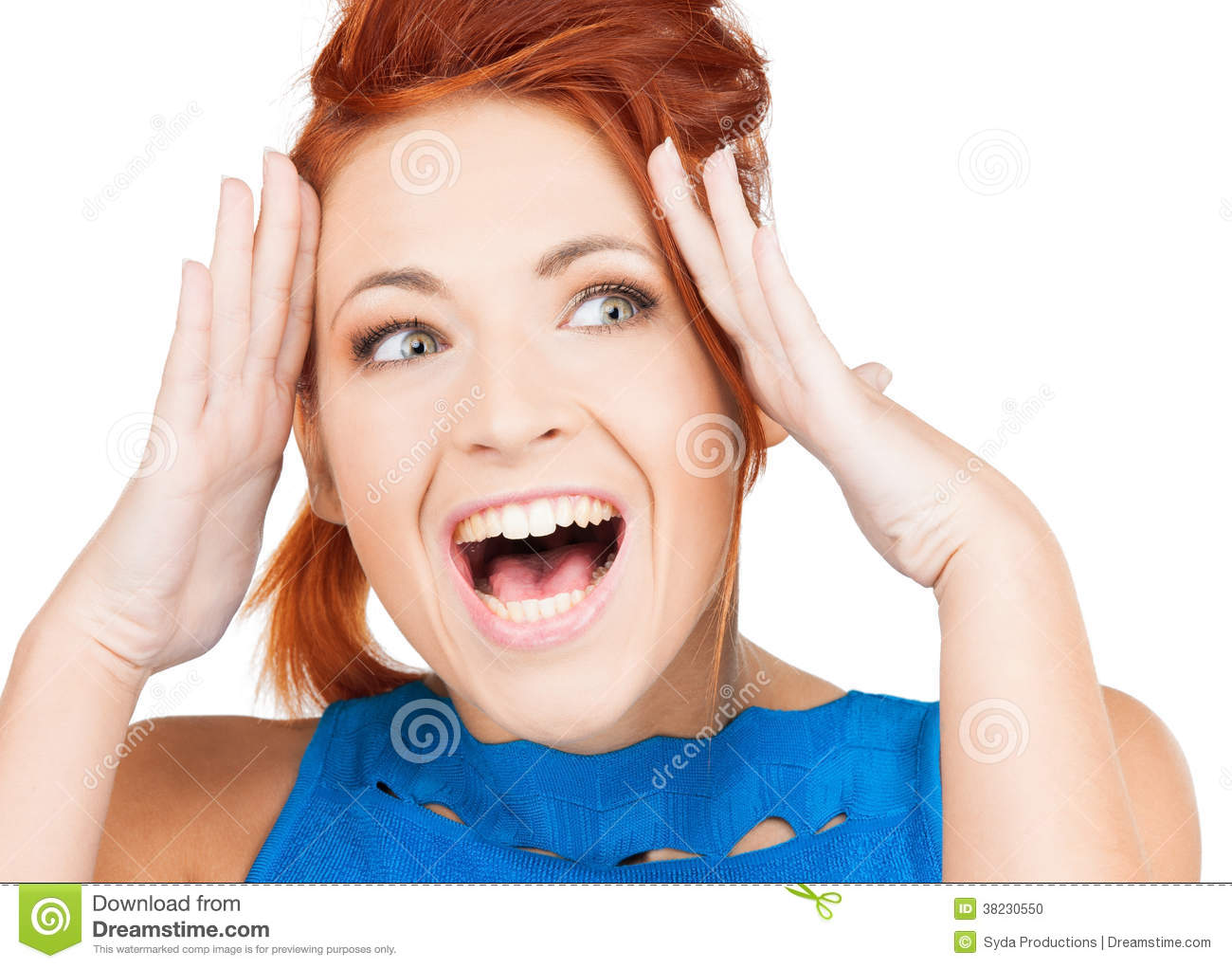 Excited Face Of Woman ...