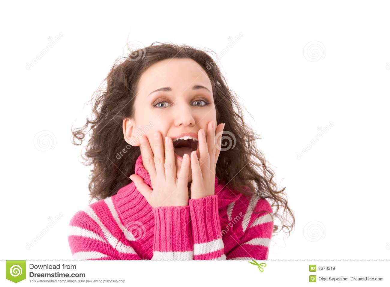 Excited girl stock photo. Image of girl, confidence, fine ...