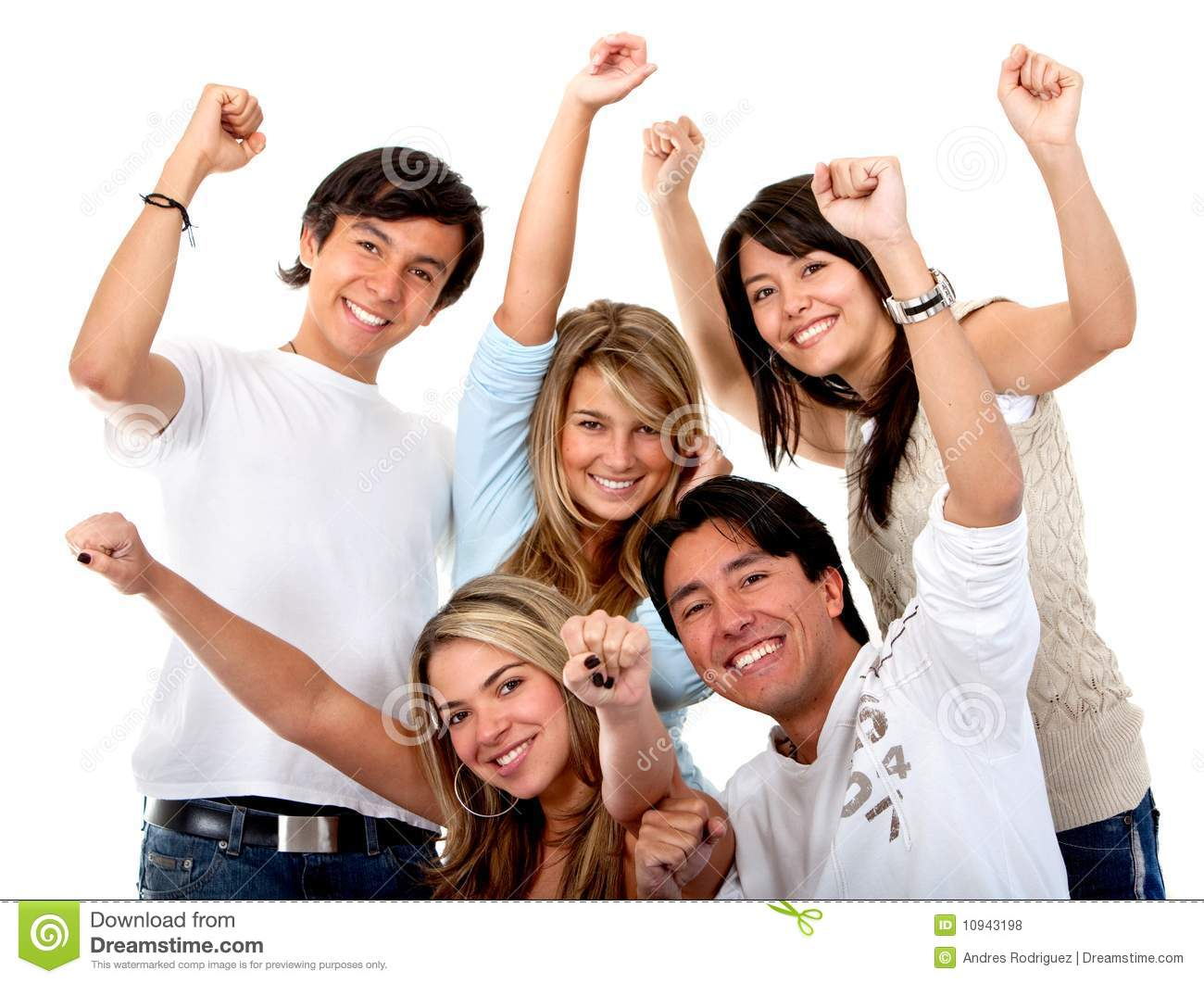 Excited group of people stock photo. Image of males ...