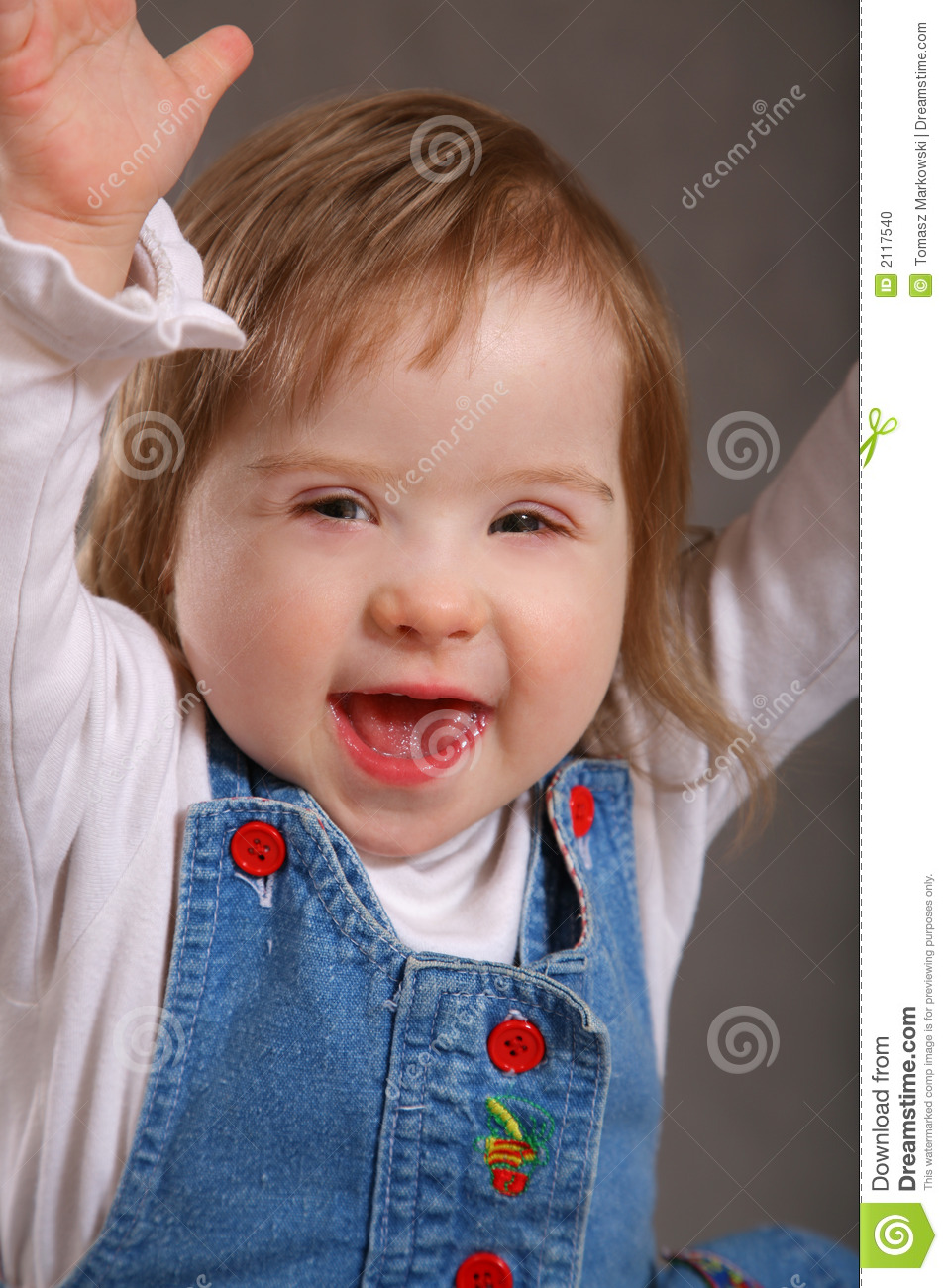 Excited Handicapped Toddler Stock Photo - Image of child ...