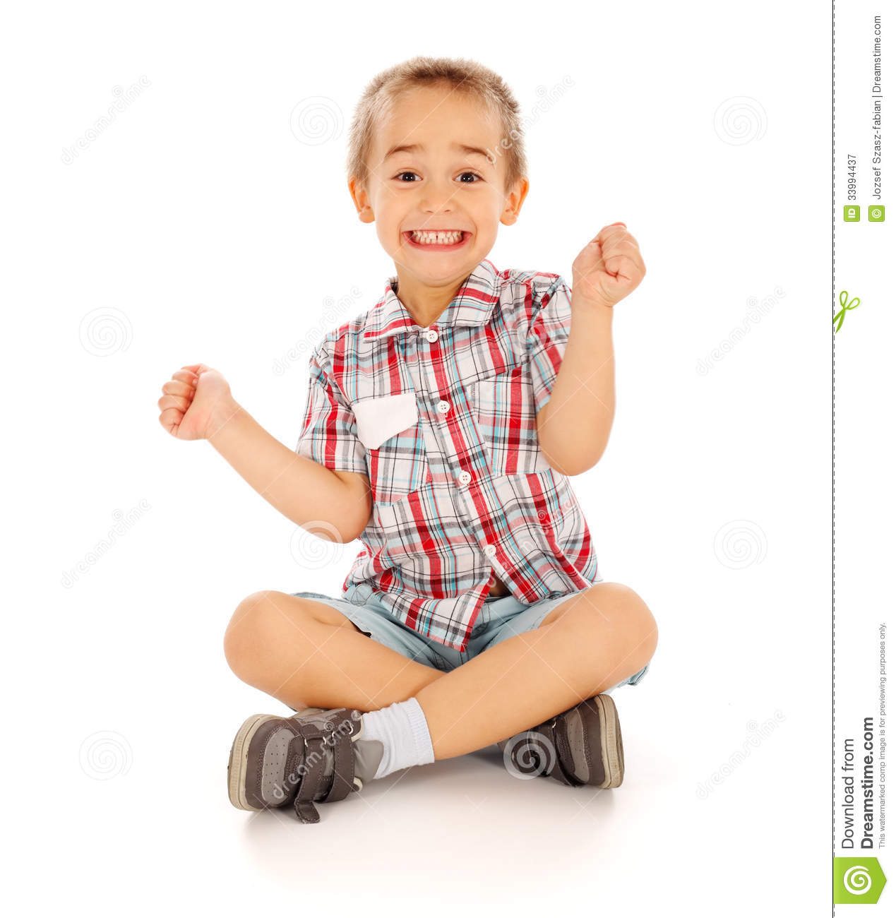 Excited Little Boy Royalty Free Stock Photography Image
