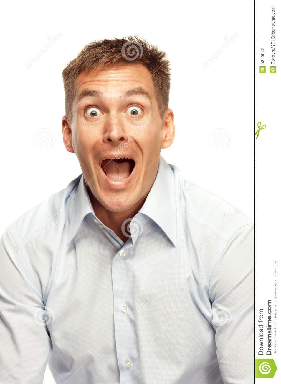 Excited man yelling