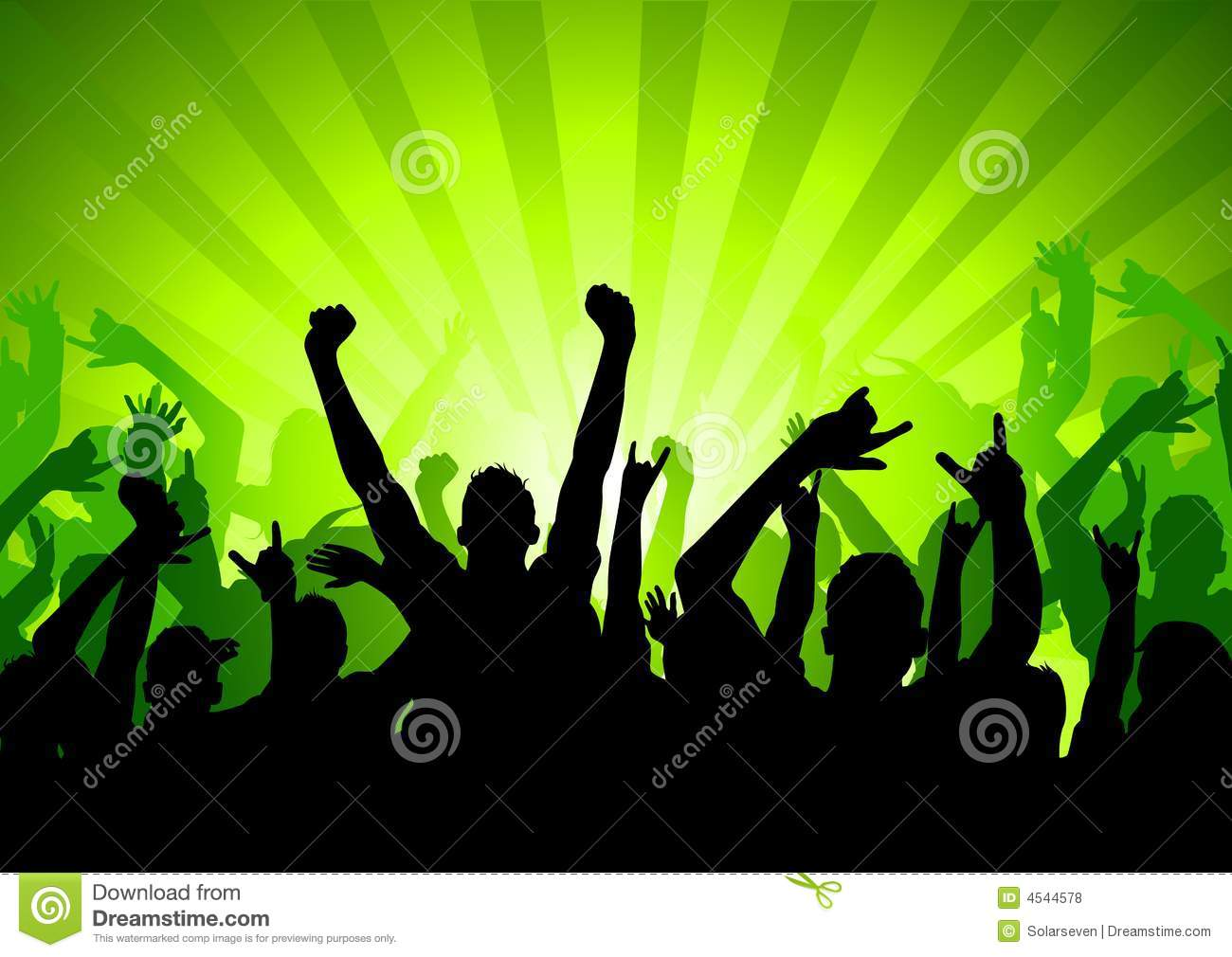 excited party crowd royalty free stock photos