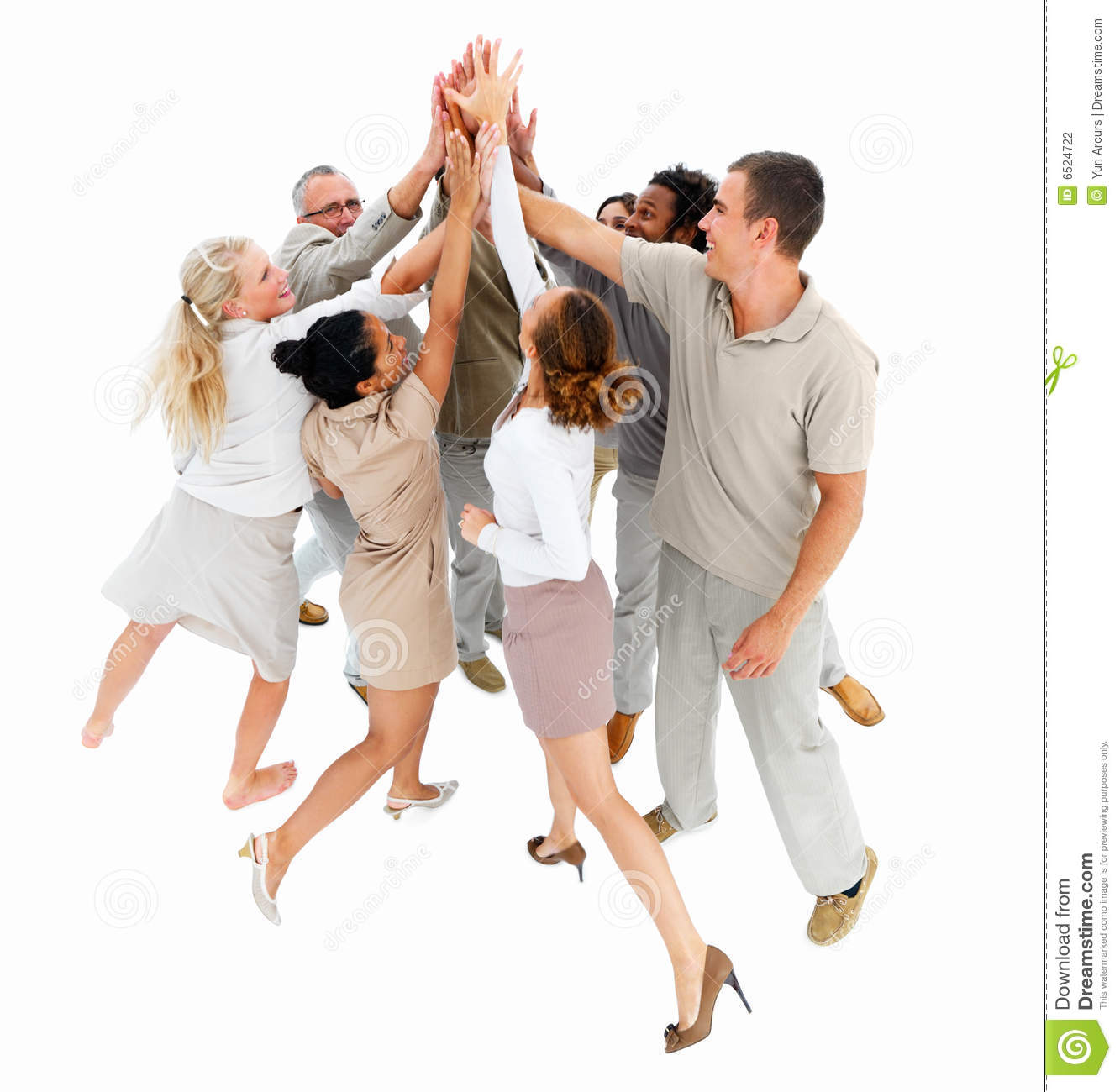 excited people showing achievment stock photo image 6524722