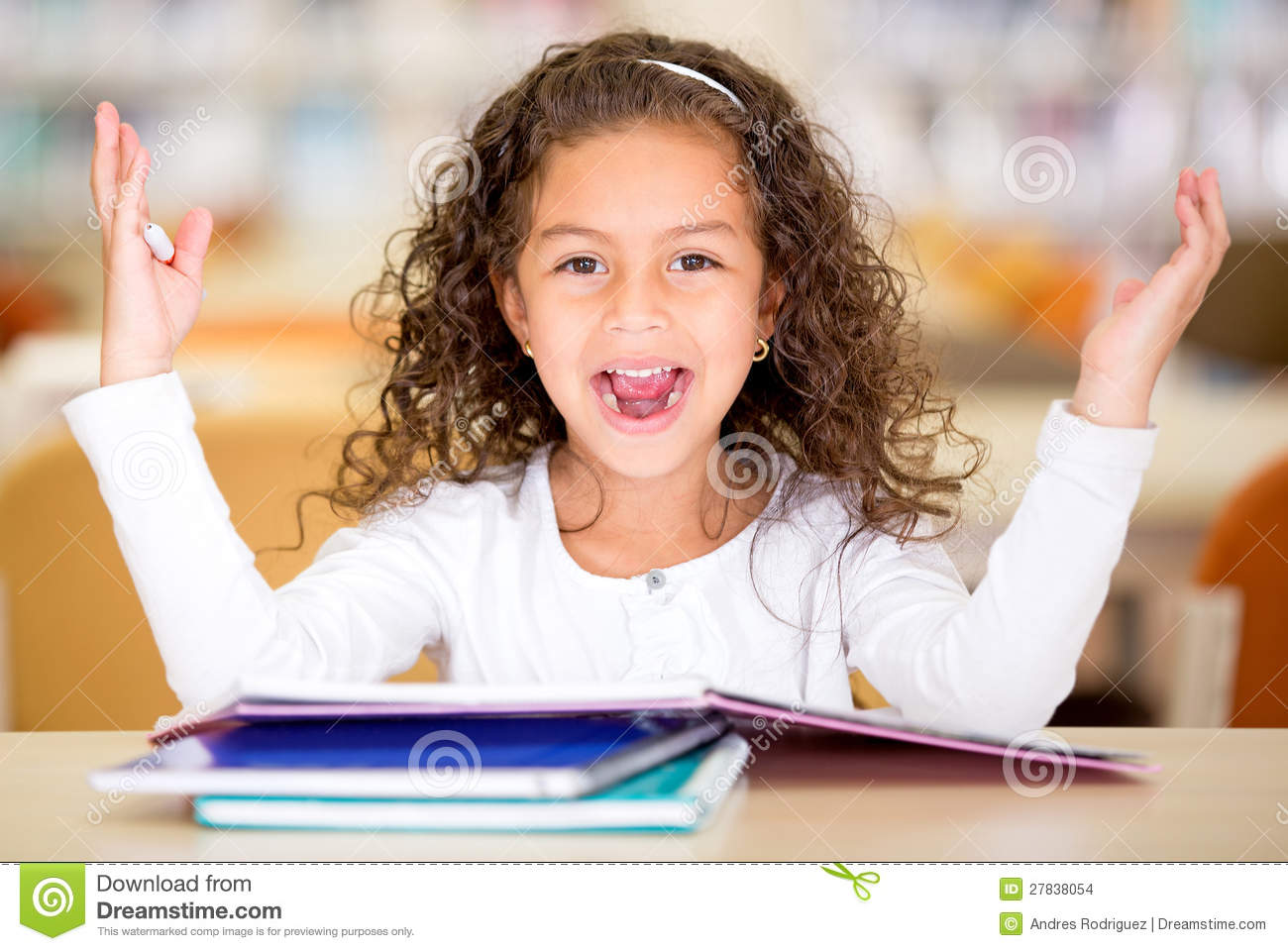 Excited School Girl Stock Photo Image Of Excited Casual
