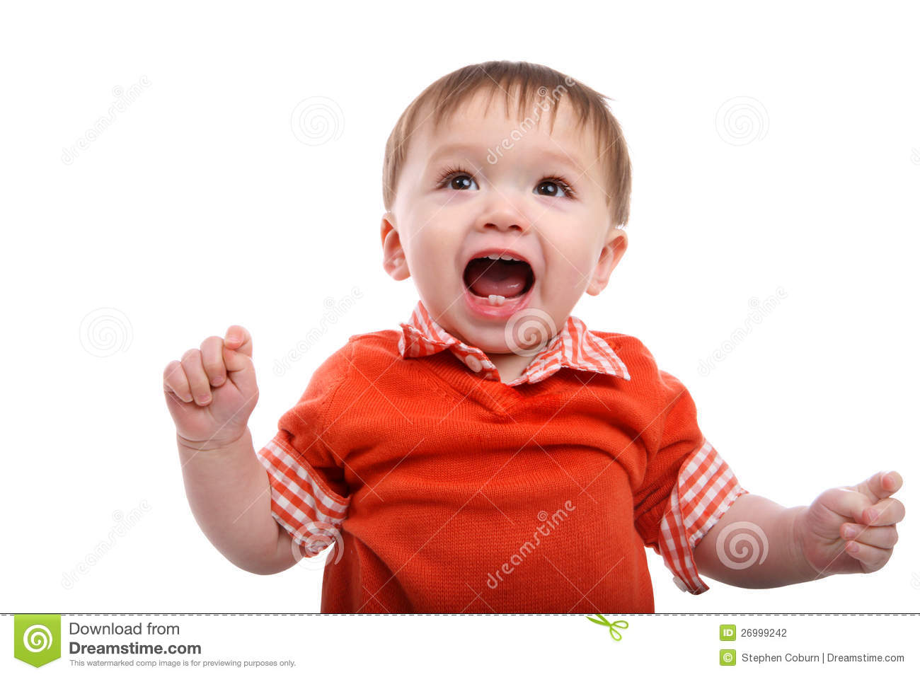 Excited Young Baby Boy stock photo. Image of ecstatic ...