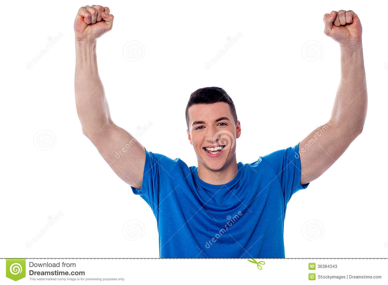 Excited Young Handsome Man Stock Photos - Image: 36384343