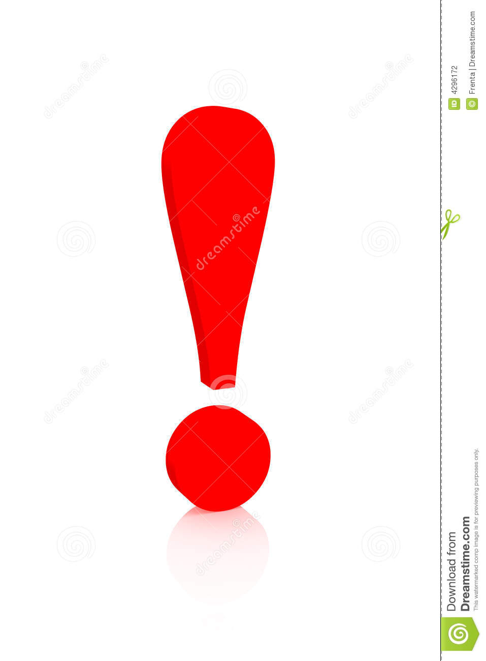 Exclamation Mark Of Red Color Stock Photography - Image: 4296172