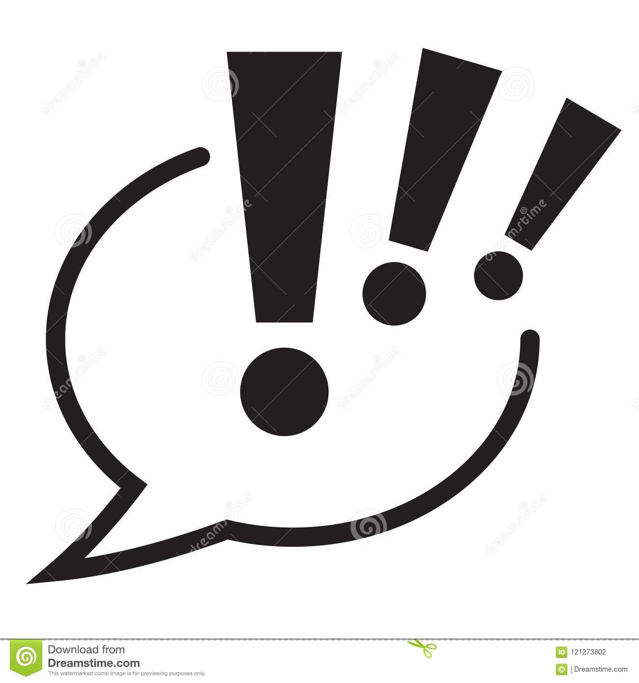 exclamation mark in speech bubble icon attention sign icon stock jpg 1300x1390 bubble letters exclamation mark