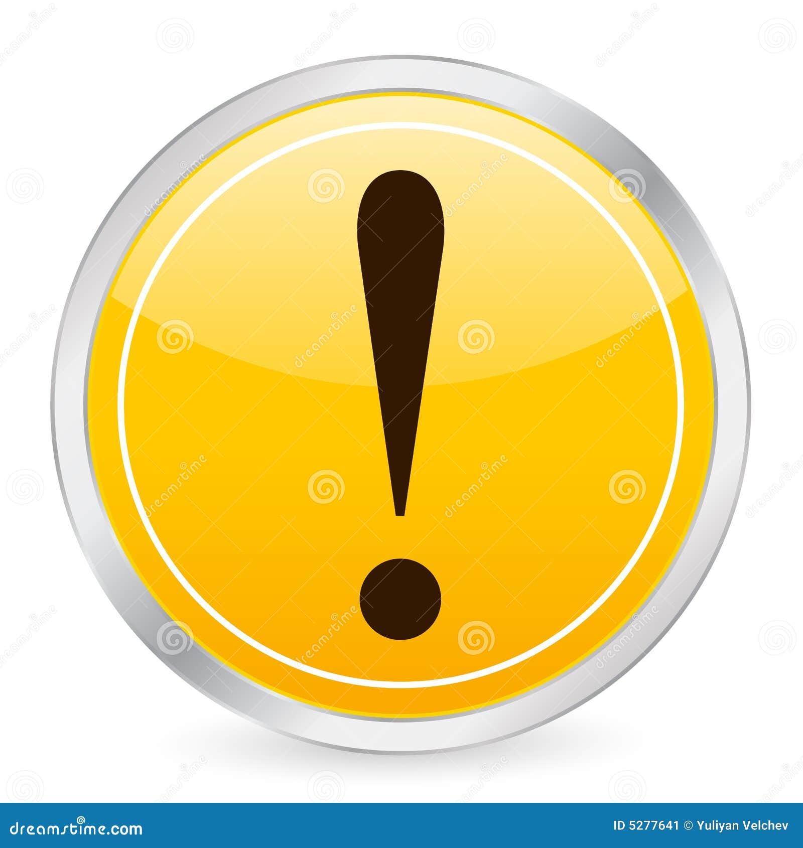 Exclamation Mark Yellow Circle Stock Illustration
