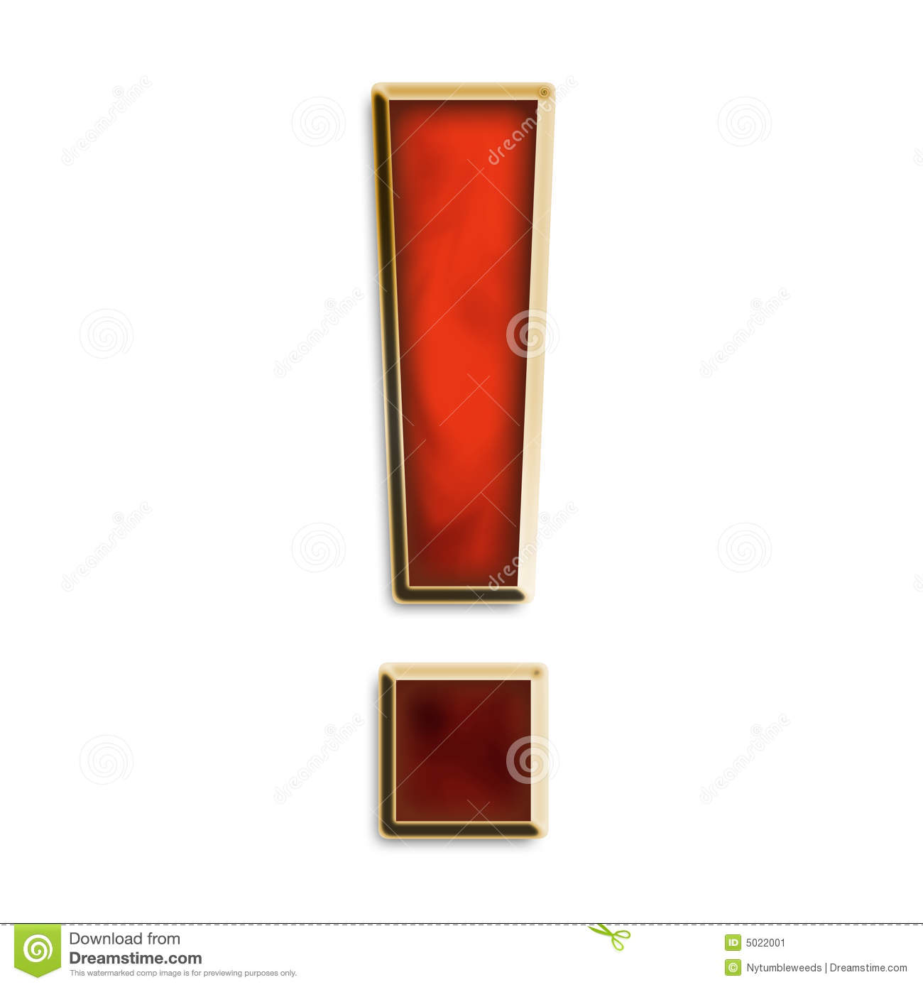 More similar stock images of ` Exclamation point in fiery red `