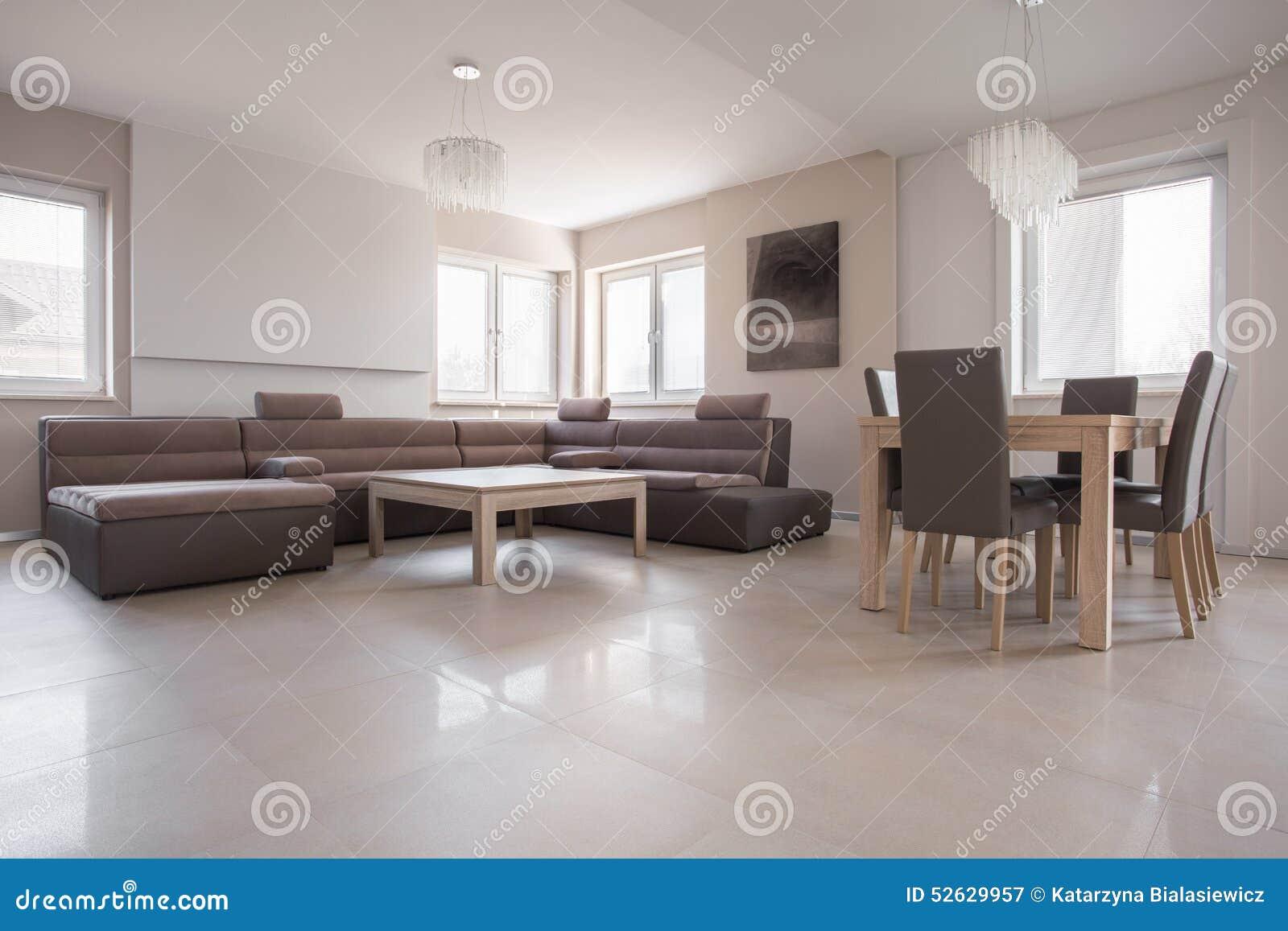 Exclusief binnenland in beige ontwerp