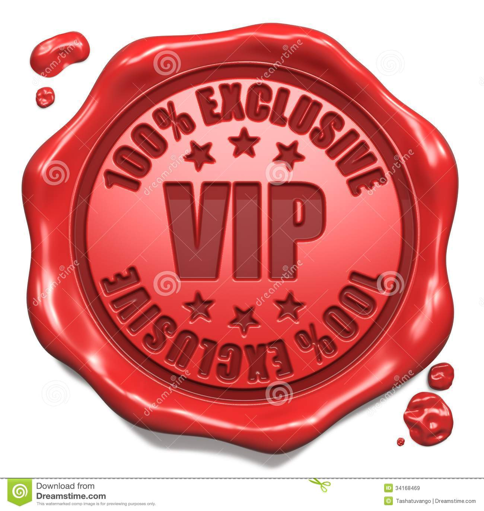 Exclusief VIP - Zegel op Rode Wasverbinding.