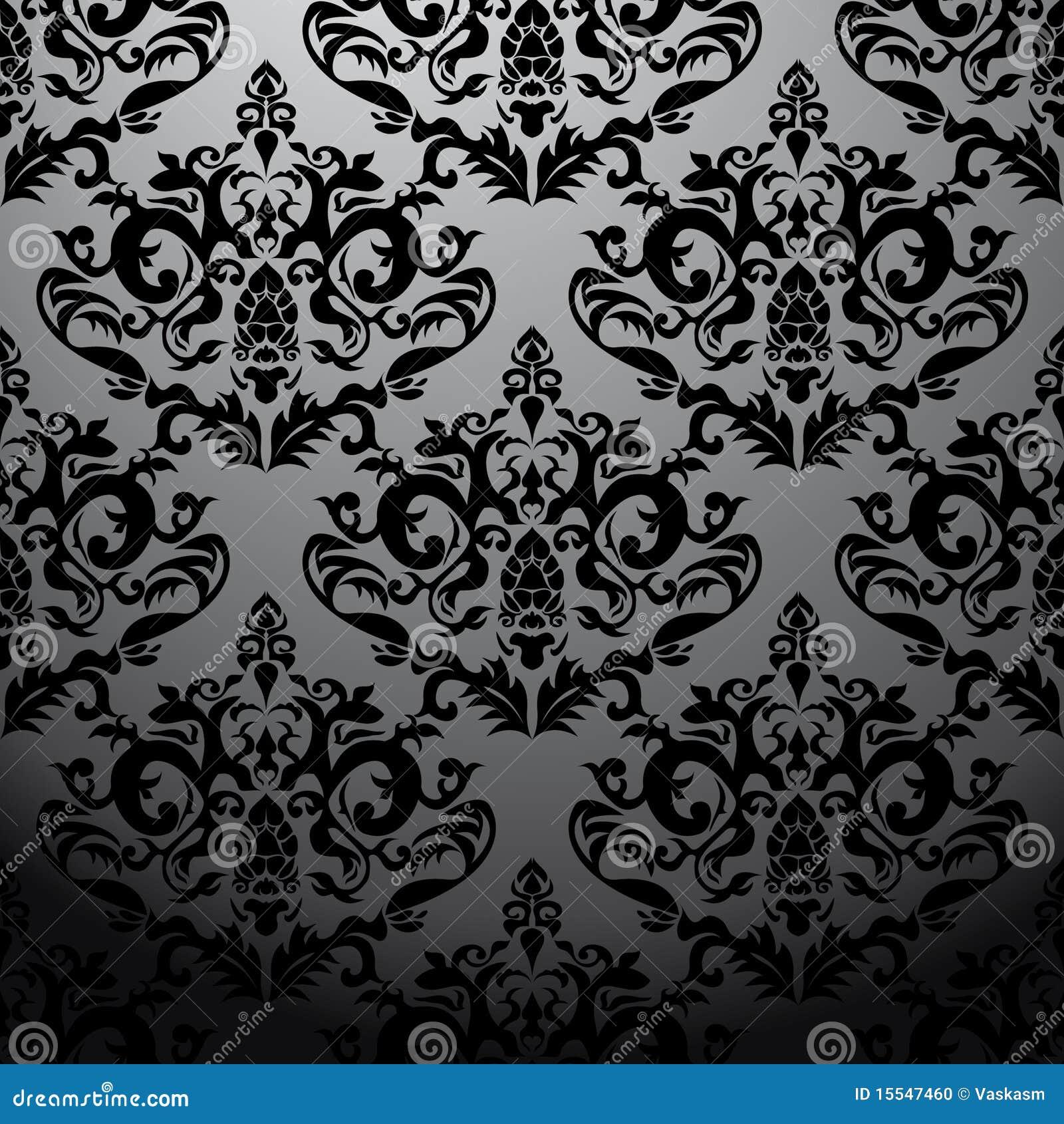 Exclusief zwart barok patroon stock foto beeld