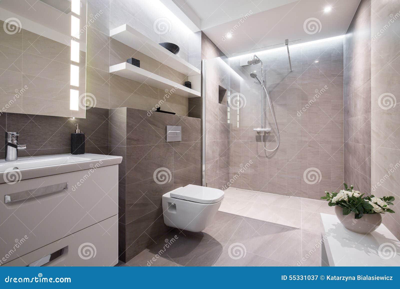 Exclusieve Moderne Badkamers Stock Afbeelding - Afbeelding bestaande ...