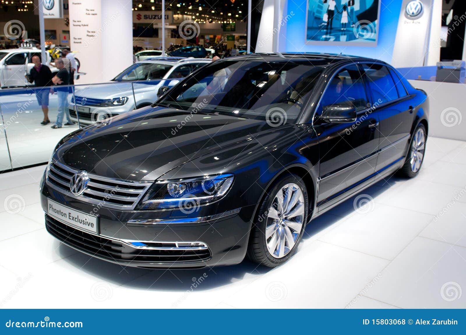 Exclusiva del faetón de Volkswagen - premier europea