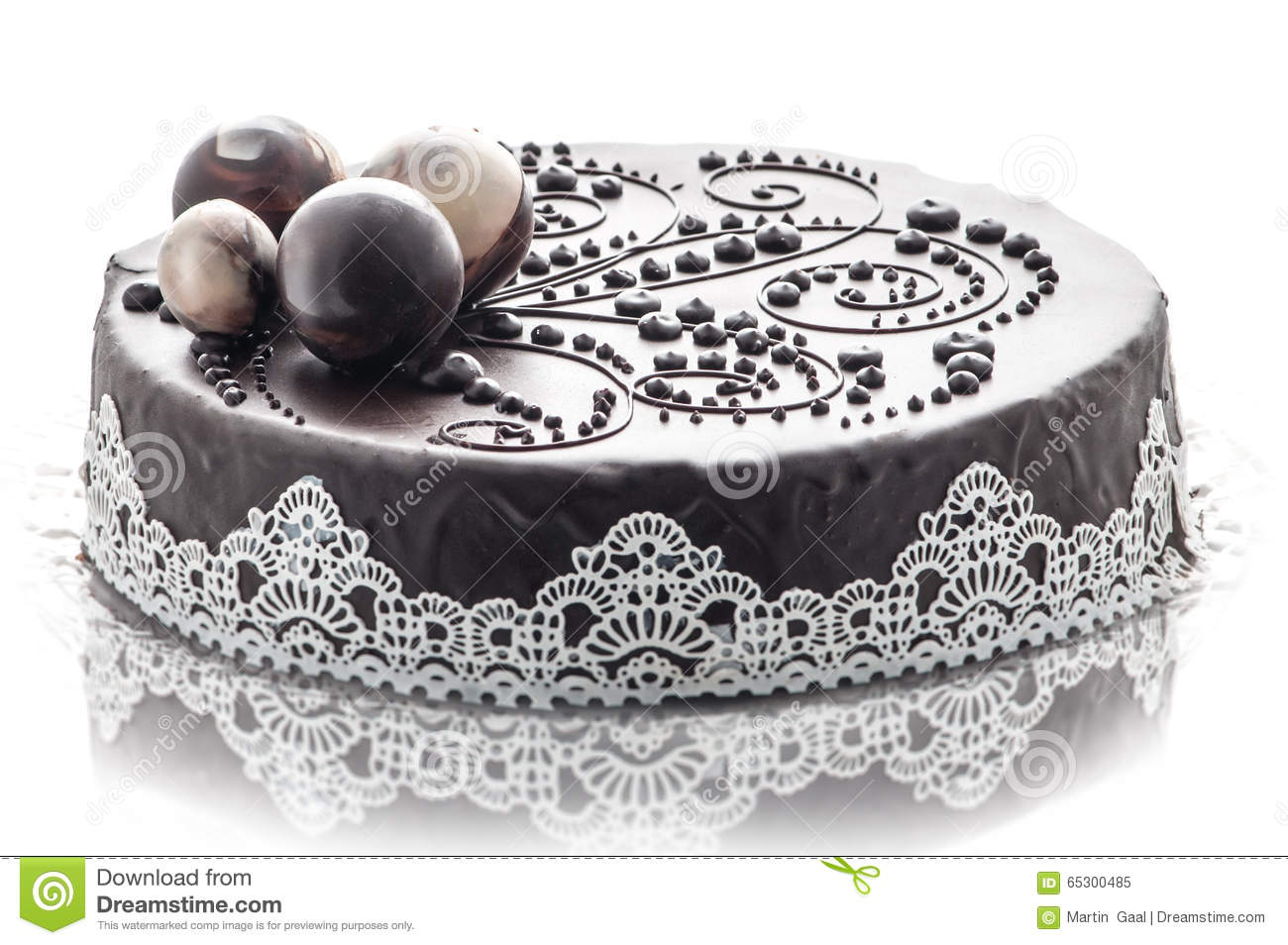 exclusive chocolate cake with lace and chocolate decoration patisserie photography for shop. Black Bedroom Furniture Sets. Home Design Ideas