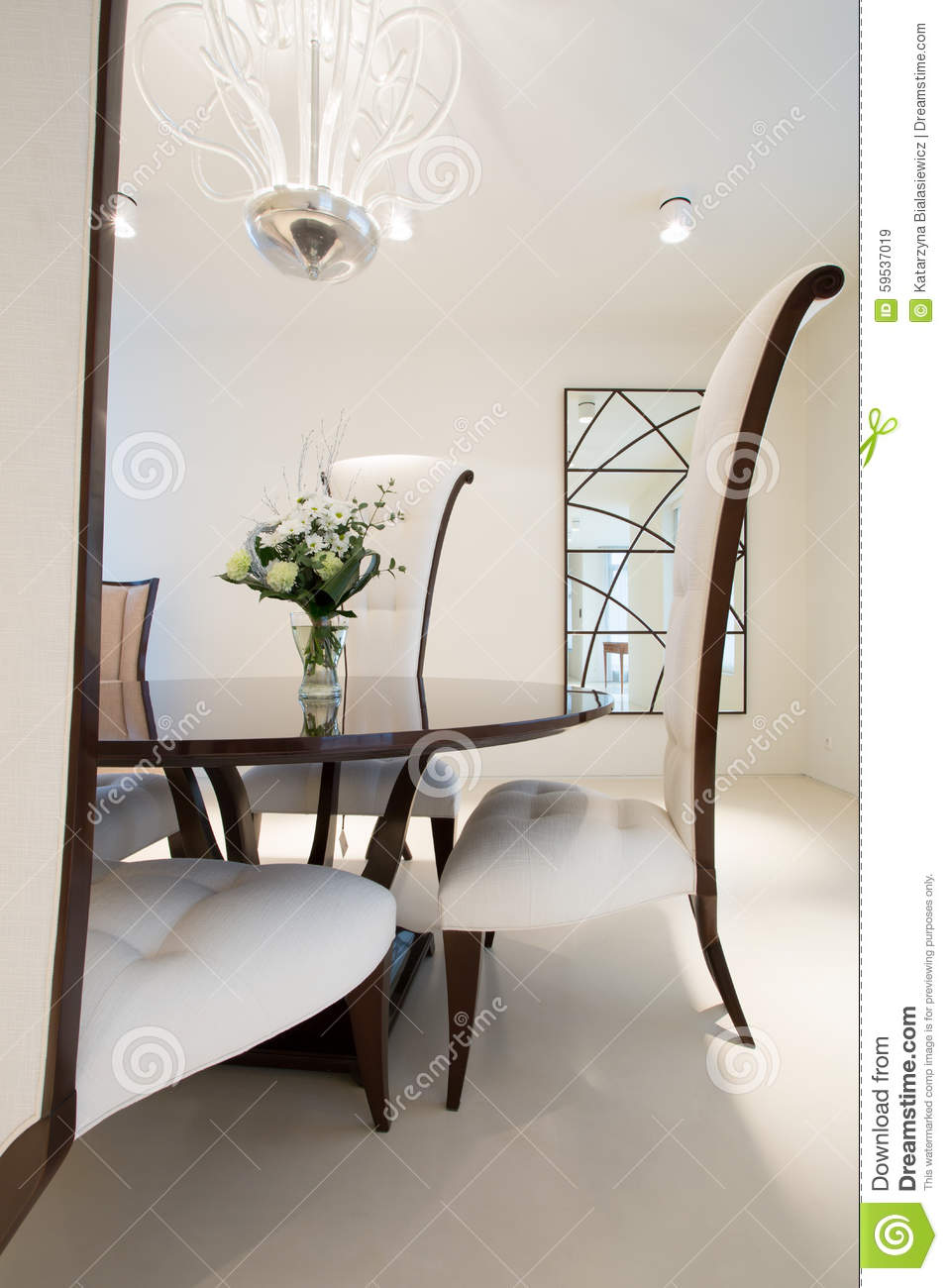 Exclusive Dining Room Stock Photo Image 59537019