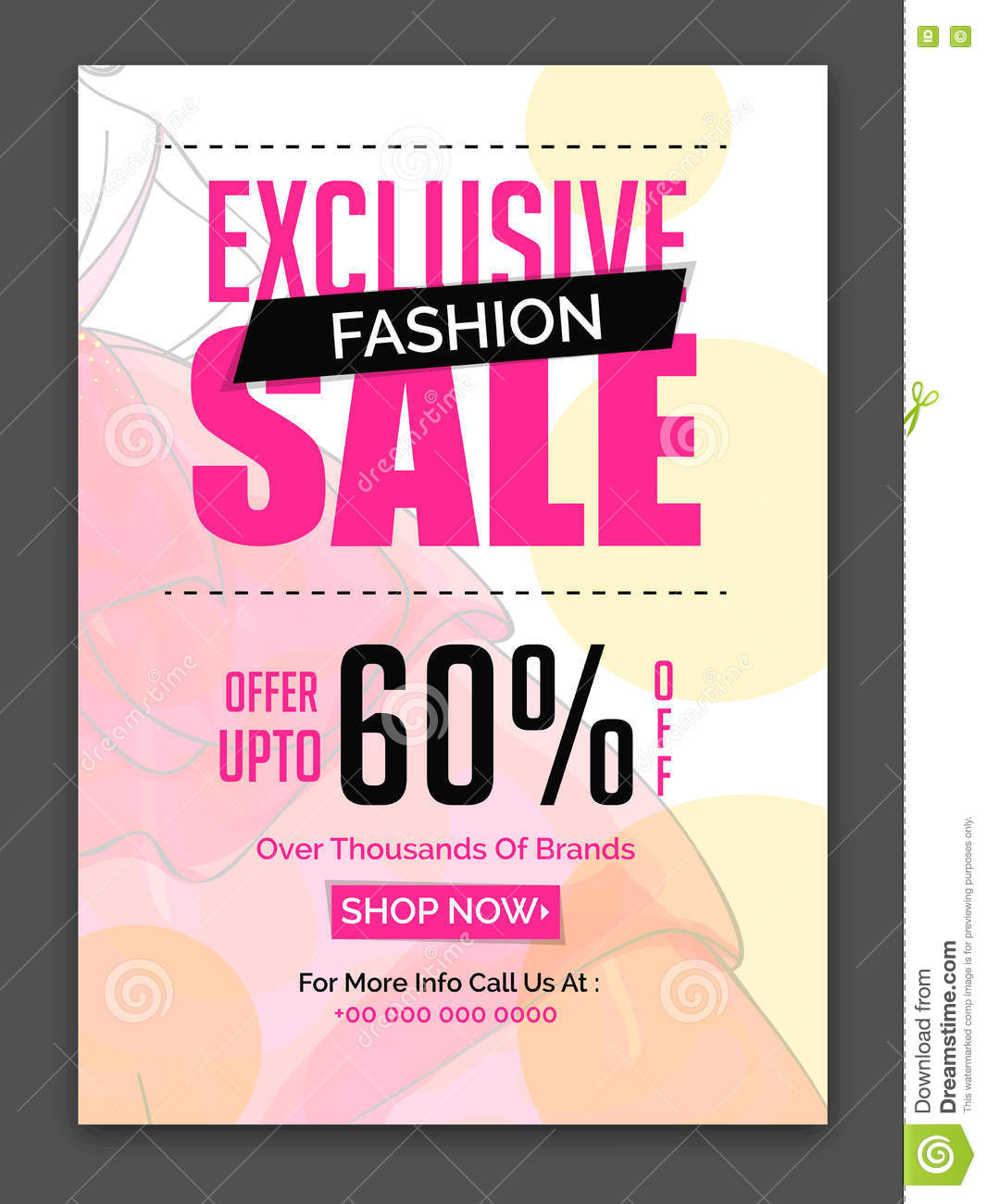 exclusive fashion sale poster  banner or flyer  stock