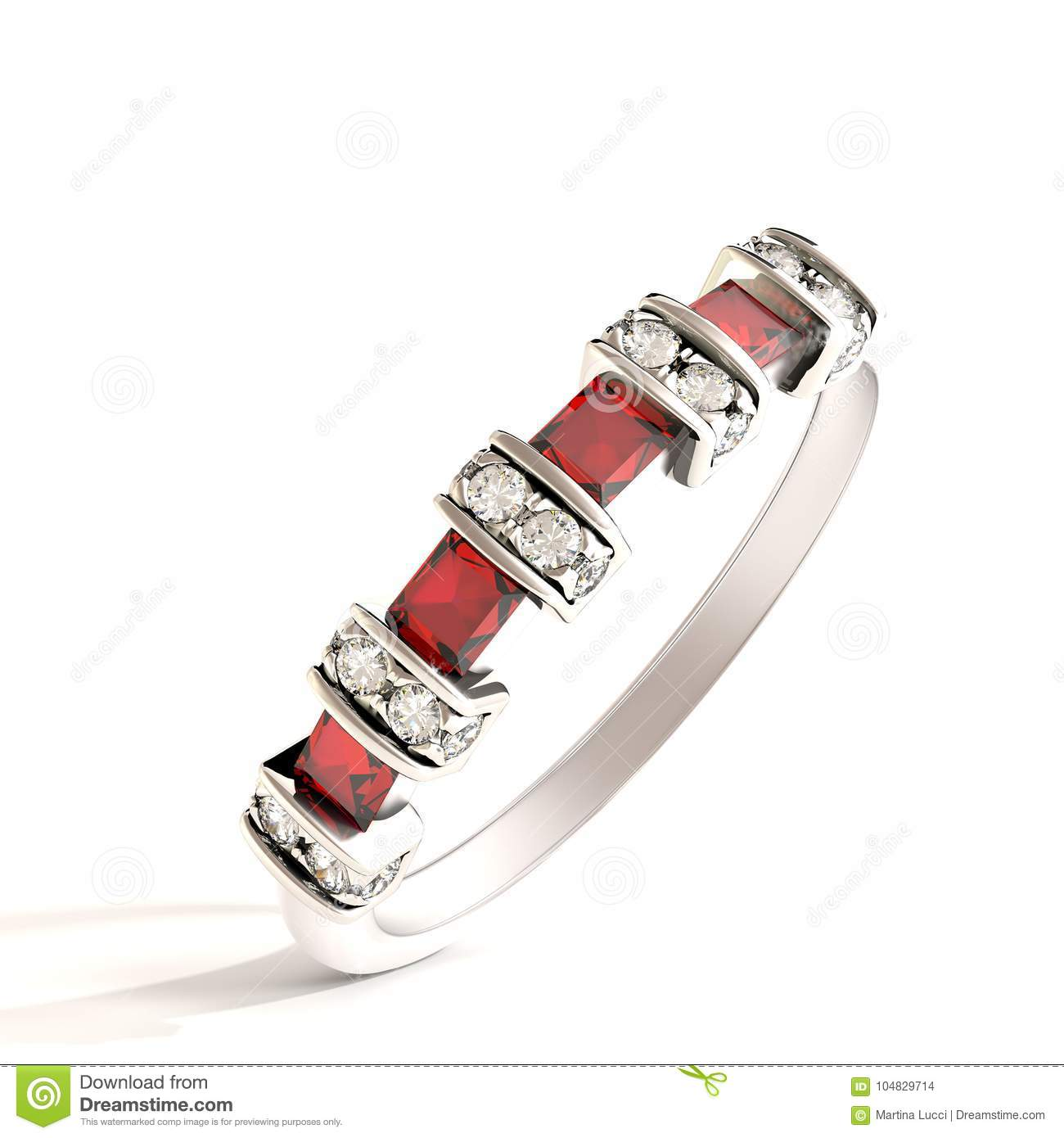 Exclusive gold ring for ladies with ruby and diamonds.