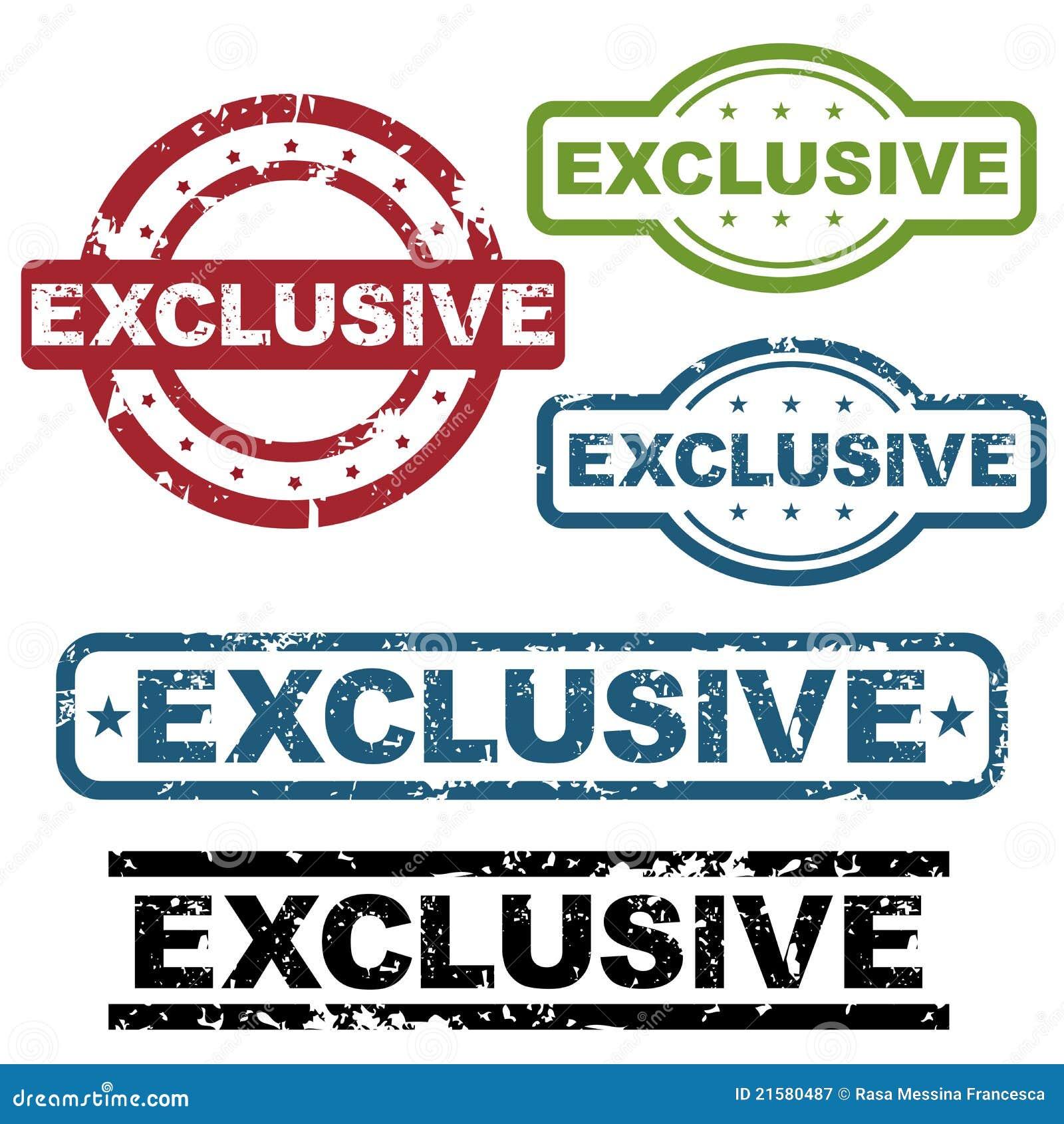 Set of five exclusive ...