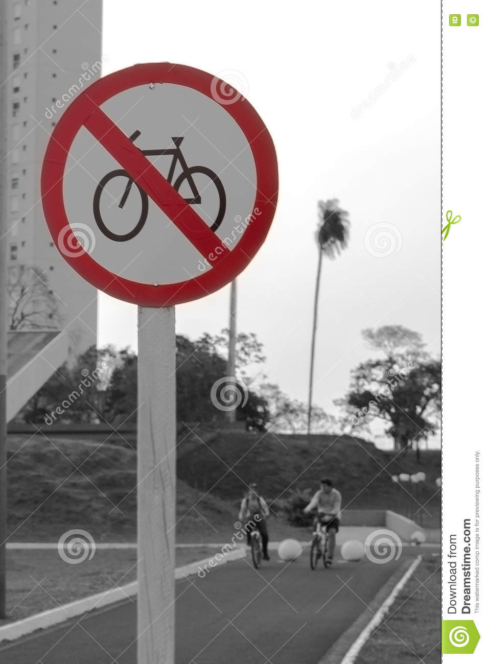 Road Signs For Pedestrians And Cyclists Royalty Free Stock