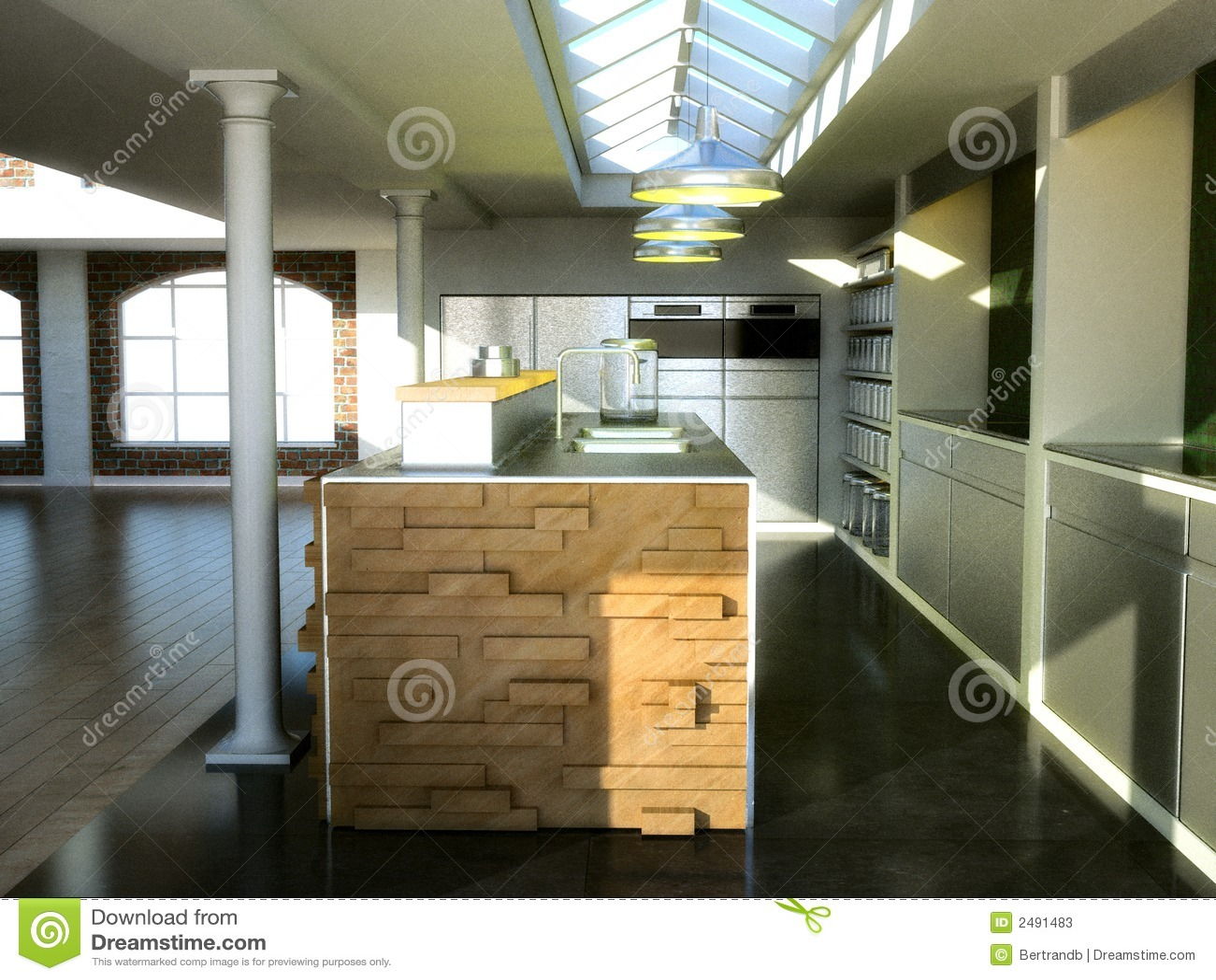 Loft Kitchen Exclusive Loft Kitchen Stock Photos Image 2491483